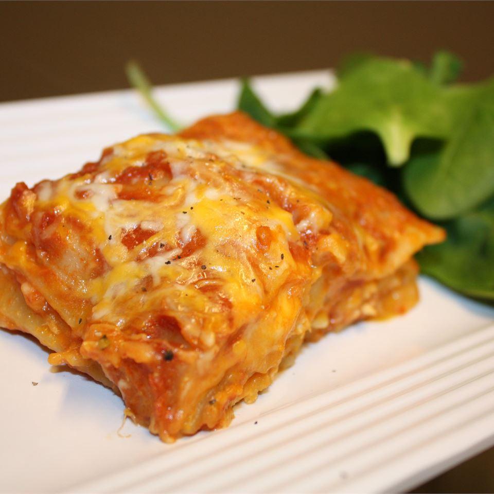 Chicken and Pumpkin Lasagna Sally