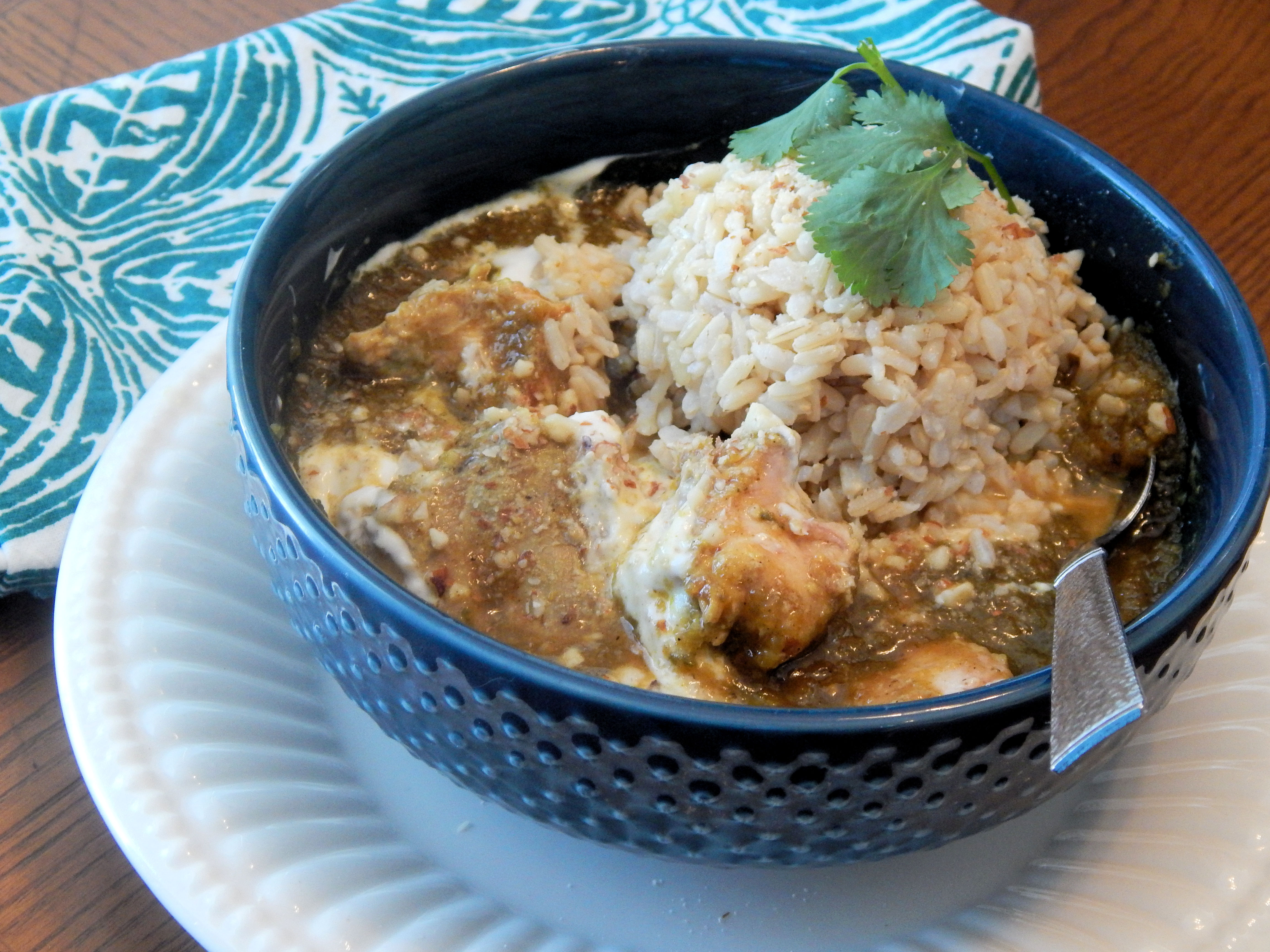 Indian Chicken Korma in the Slow Cooker