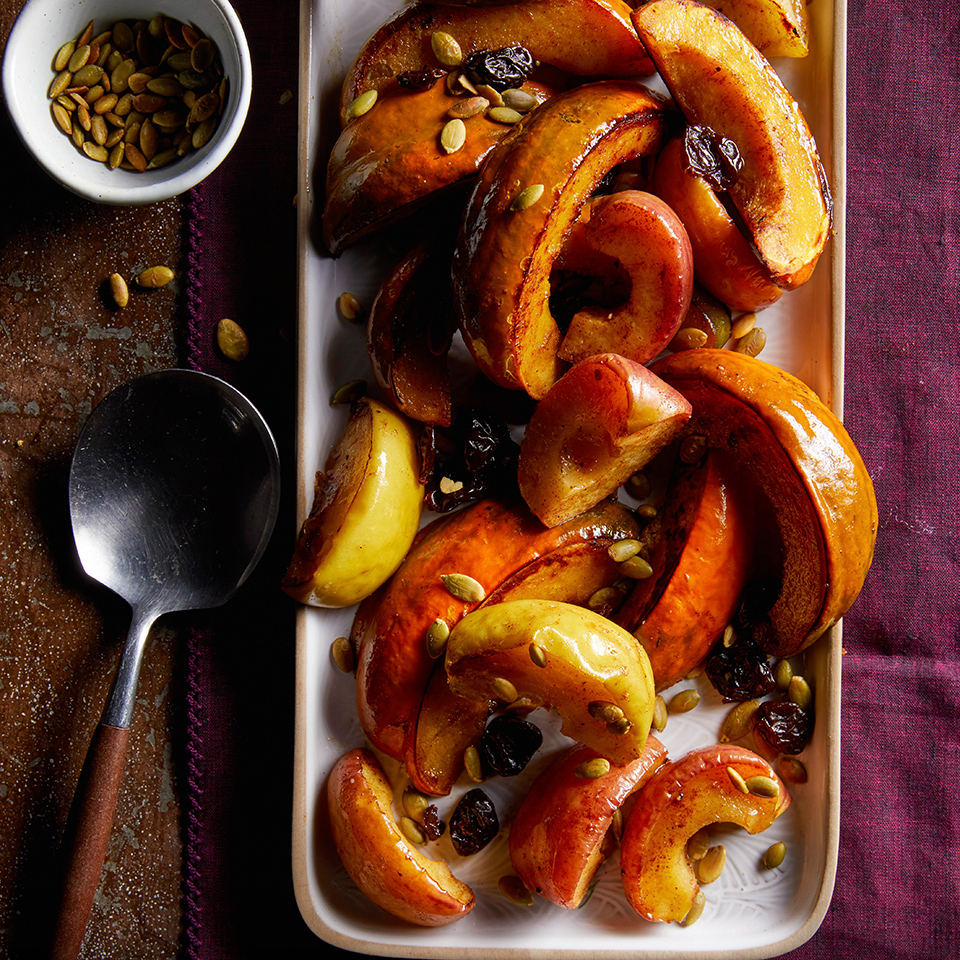 Roasted Squash & Apples with Dried Cherries & Pepitas Julia Clancy