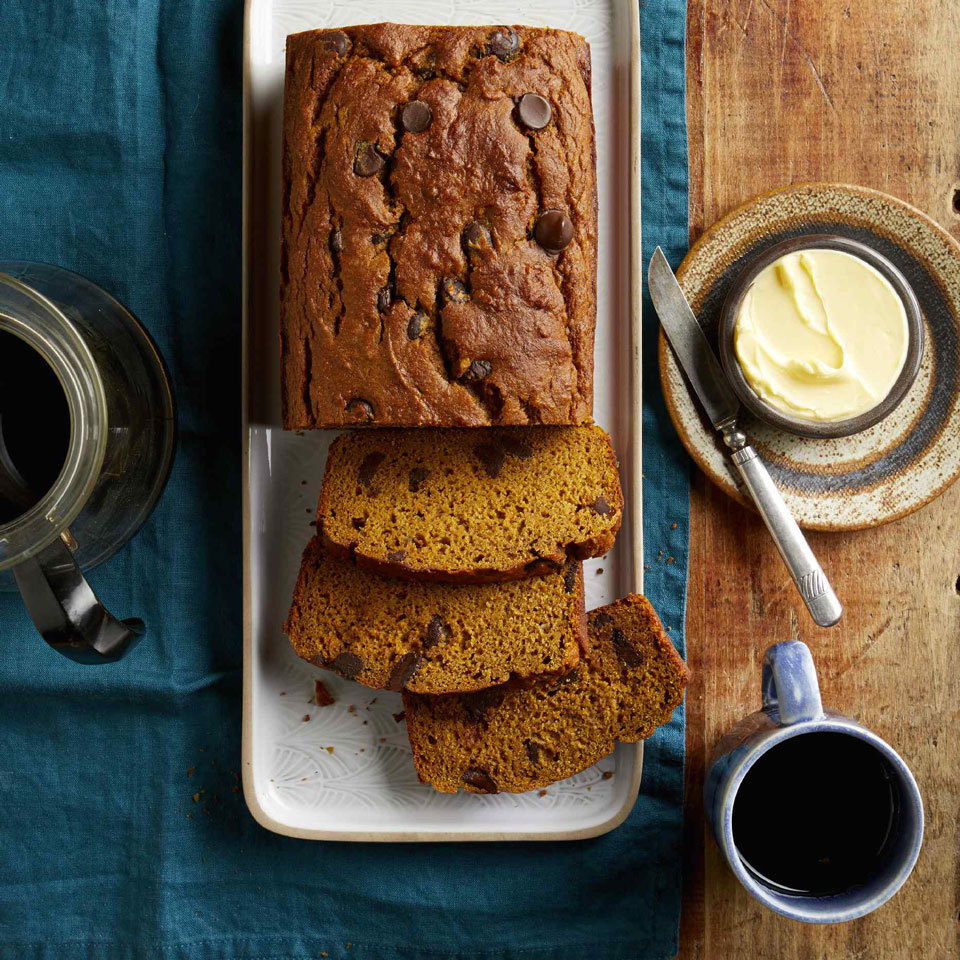 Two favorite quick breads come together in this healthy pumpkin banana bread recipe. Pumpkin puree and mashed banana add sweetness to help cut down the amount of added sugar while ensuring this 100-percent whole-wheat loaf stays moist and tender.