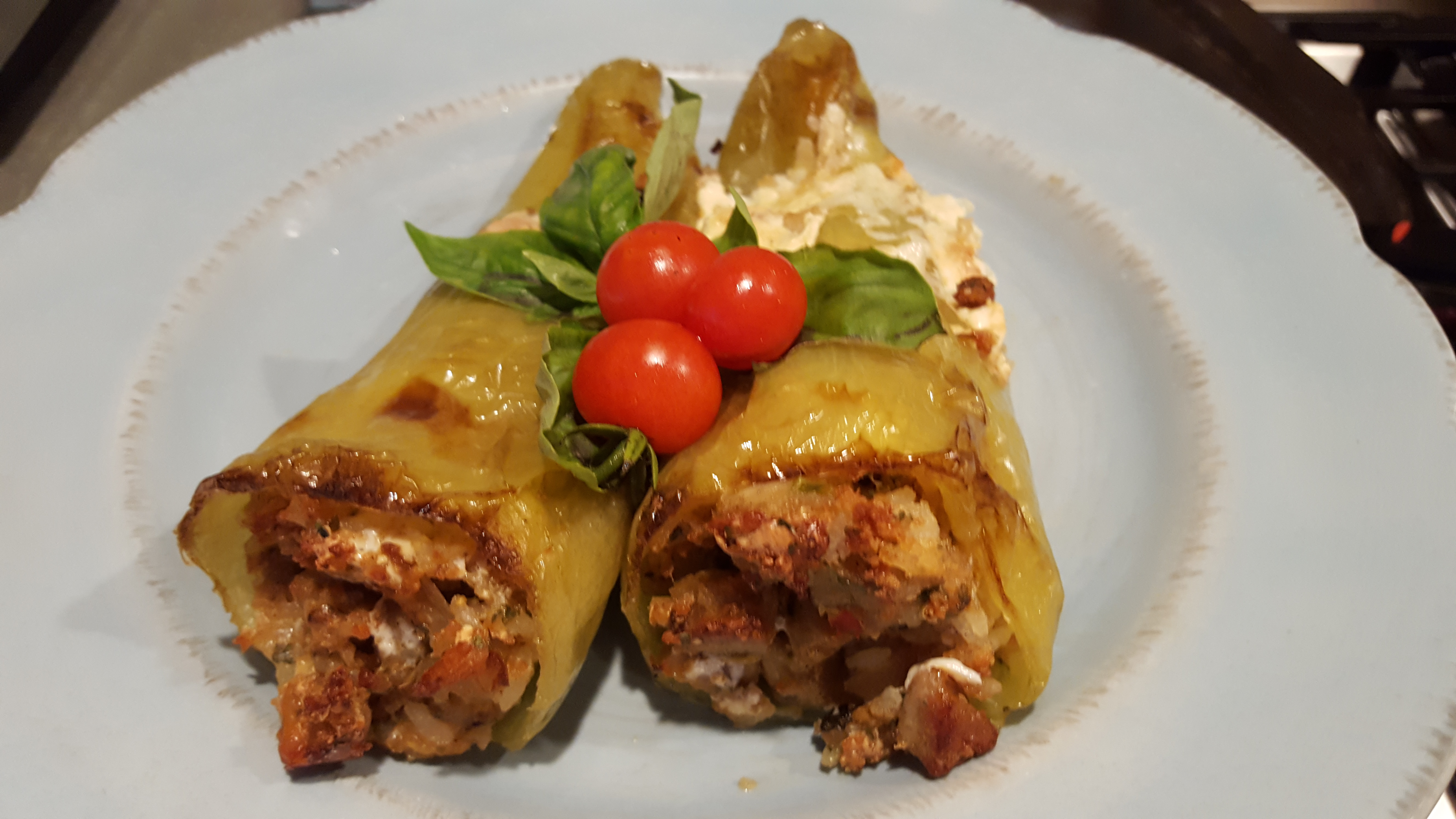 Italian Stuffed Cubanelle Peppers