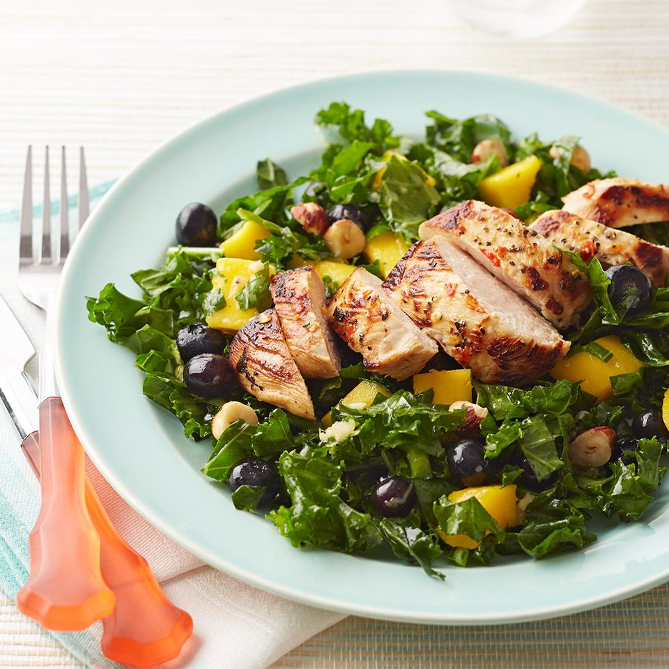 Lemon-Lime Chicken, Kale & Mango Salad Diabetic Living Magazine