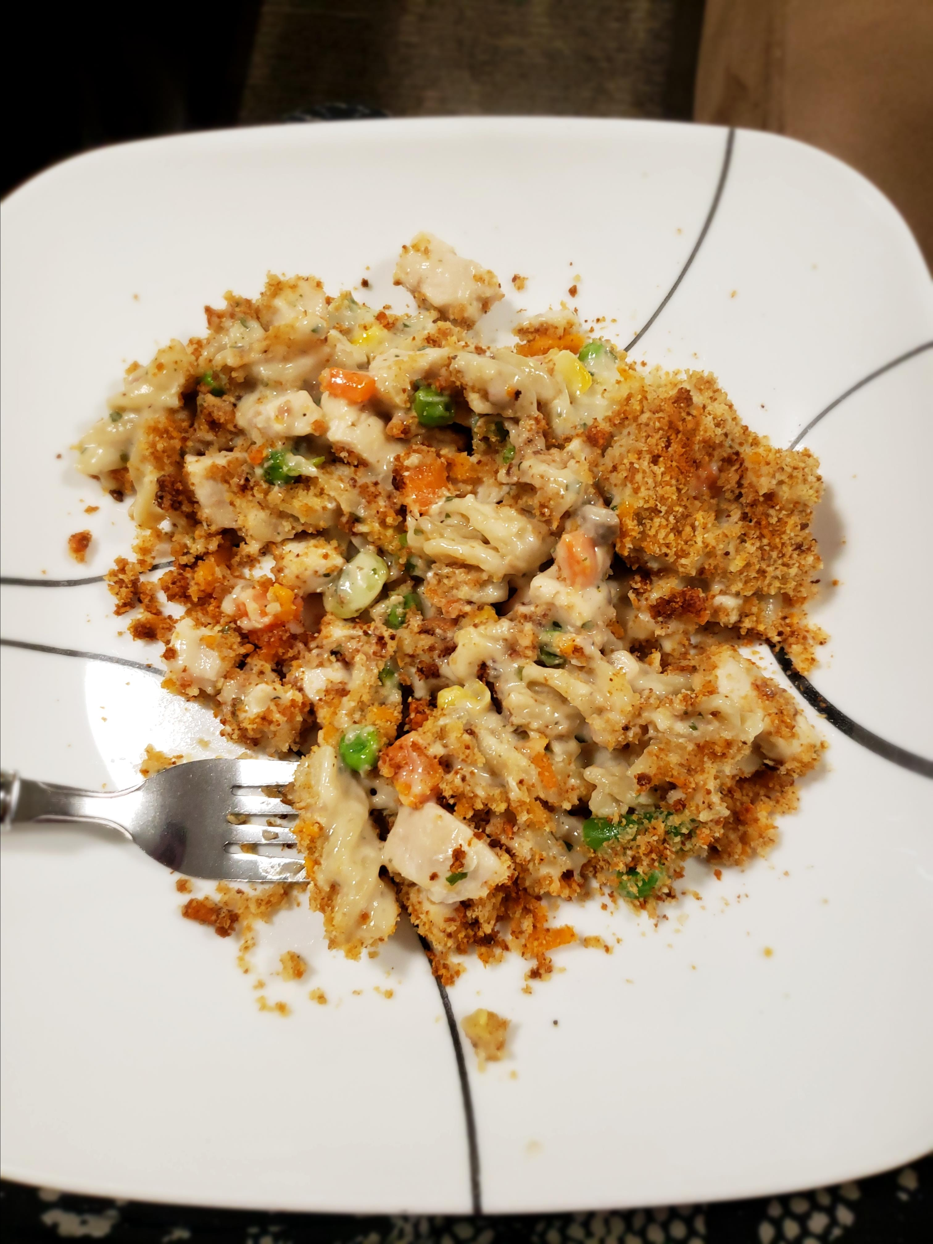 Chicken and Pasta Casserole with Mixed Vegetables Veronika Forrest