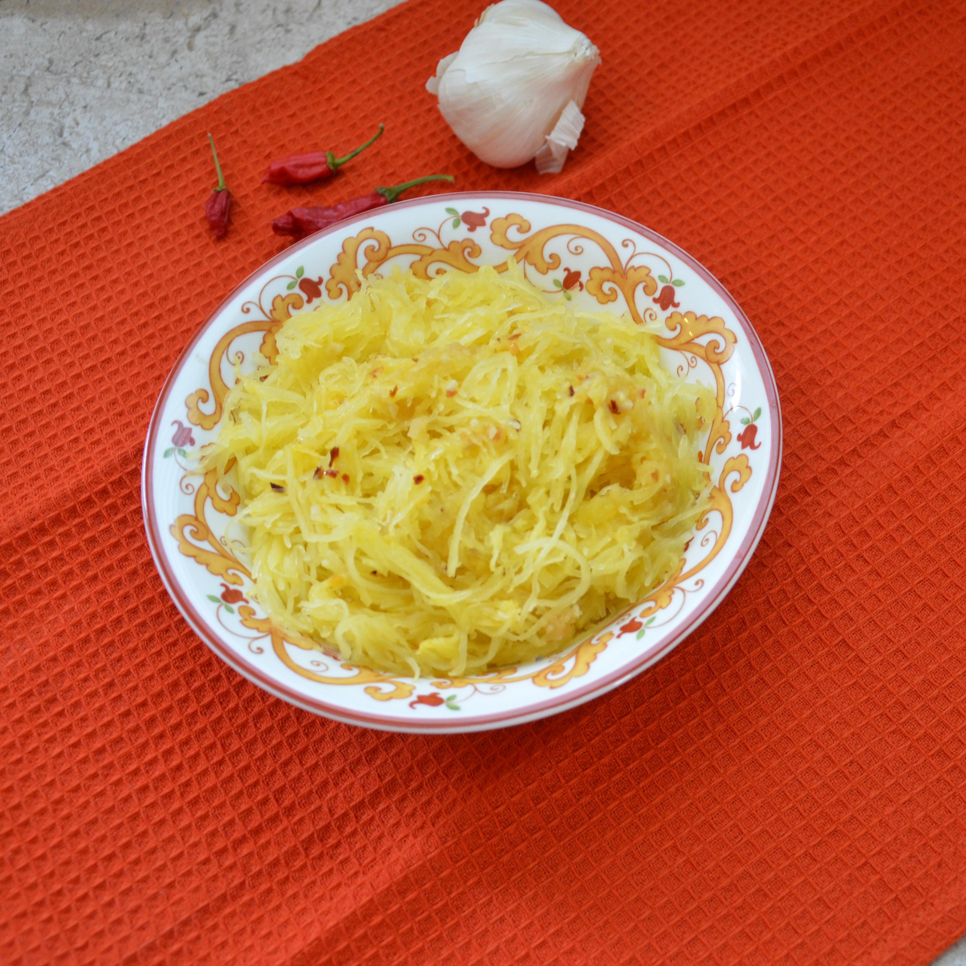 Garlic-Ginger Roasted Spaghetti Squash