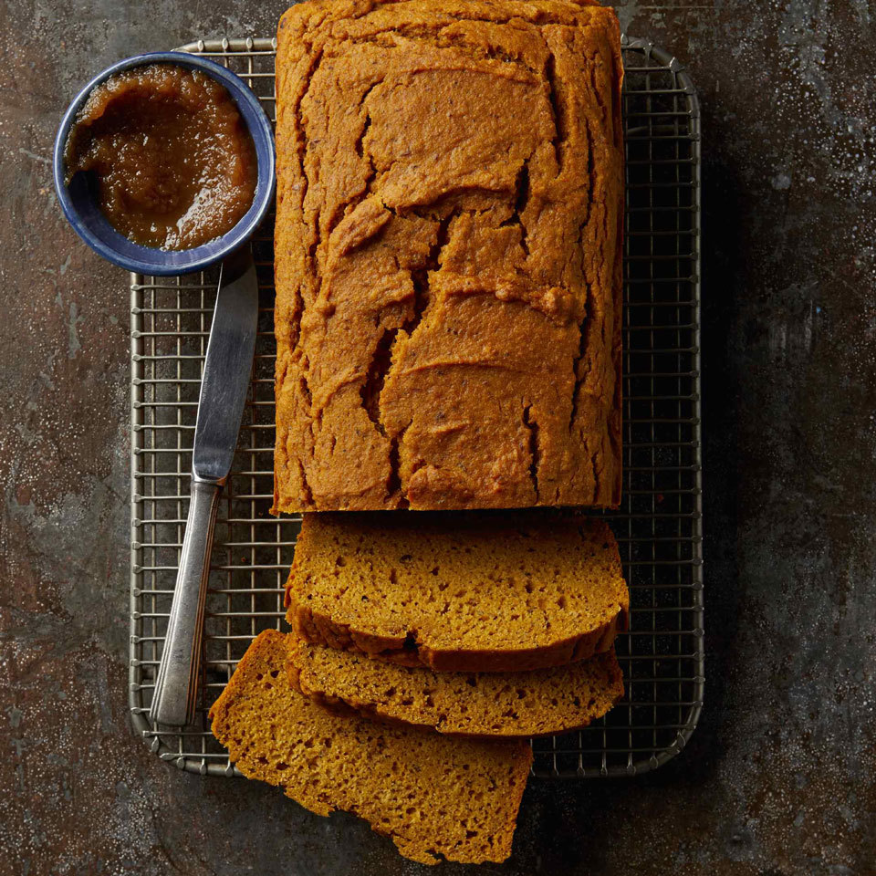 Flaxseed meal, which develops a gelatinous texture when mixed with water, replaces the eggs and provides structure to this moist, flavorful loaf.