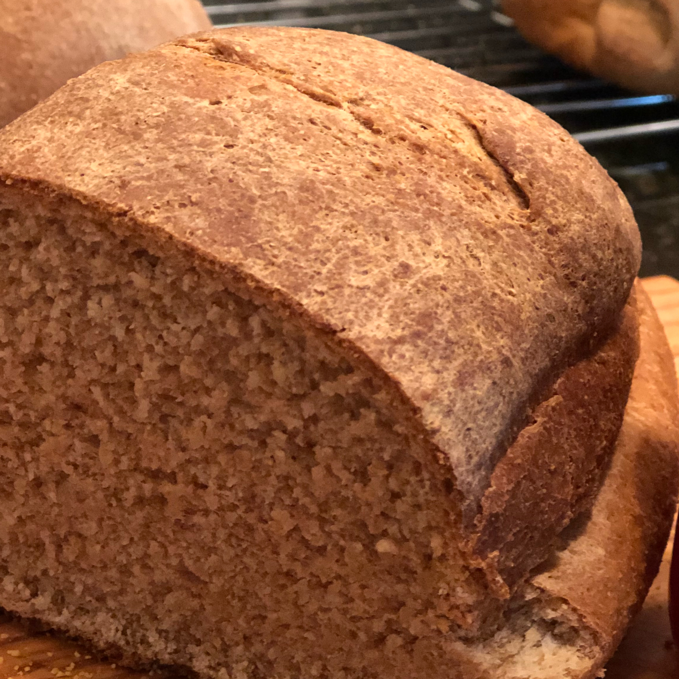 Dark and Sweet Rye Bread