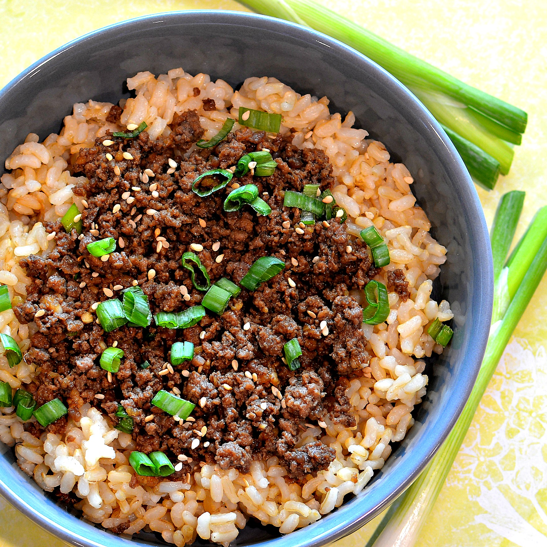 Easy Korean Ground Beef Bowl