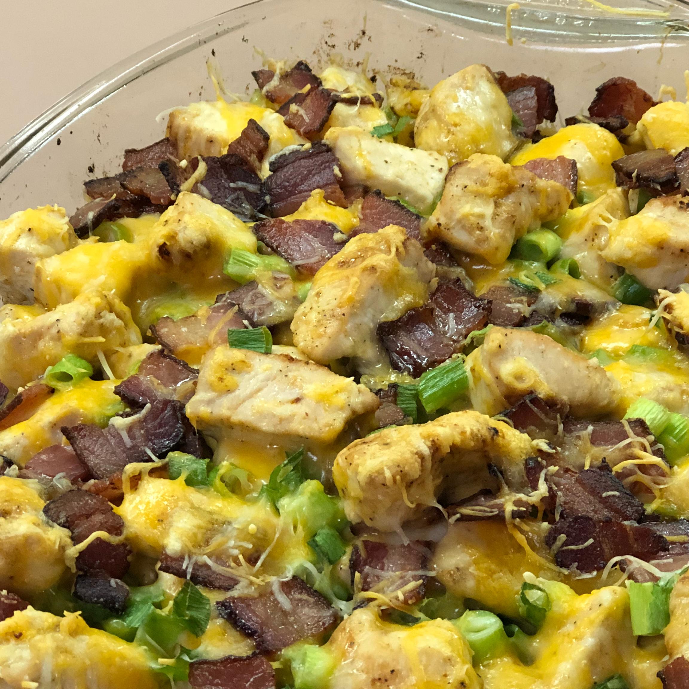 Buffalo Chicken and Roasted Potato Casserole