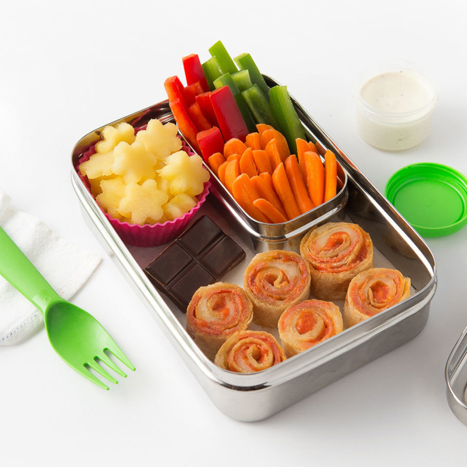 Pepperoni Pizza Roll-Up Bento Lunch Melissa Fallon