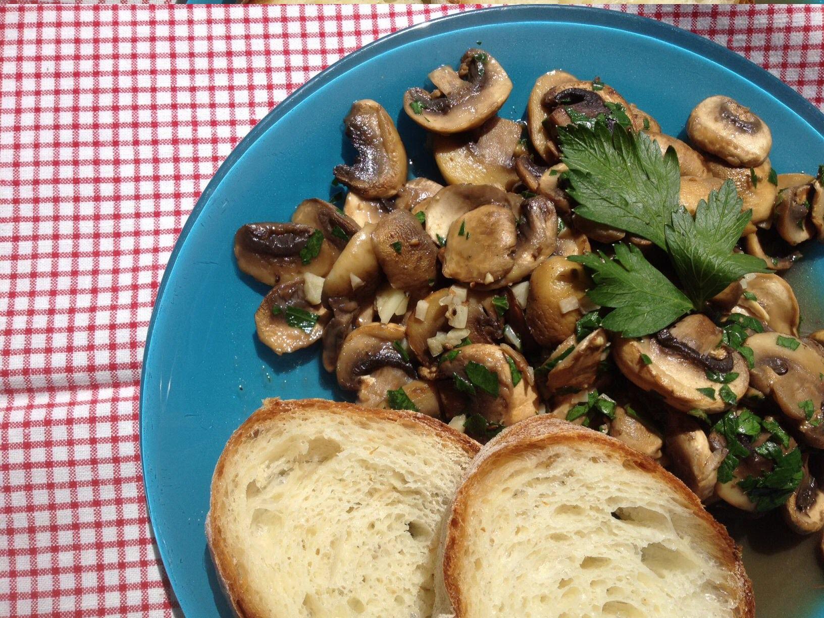 Cooked Mushroom Salad