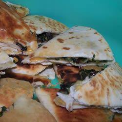 Spinach and Mushroom Quesadillas Luis Bueno