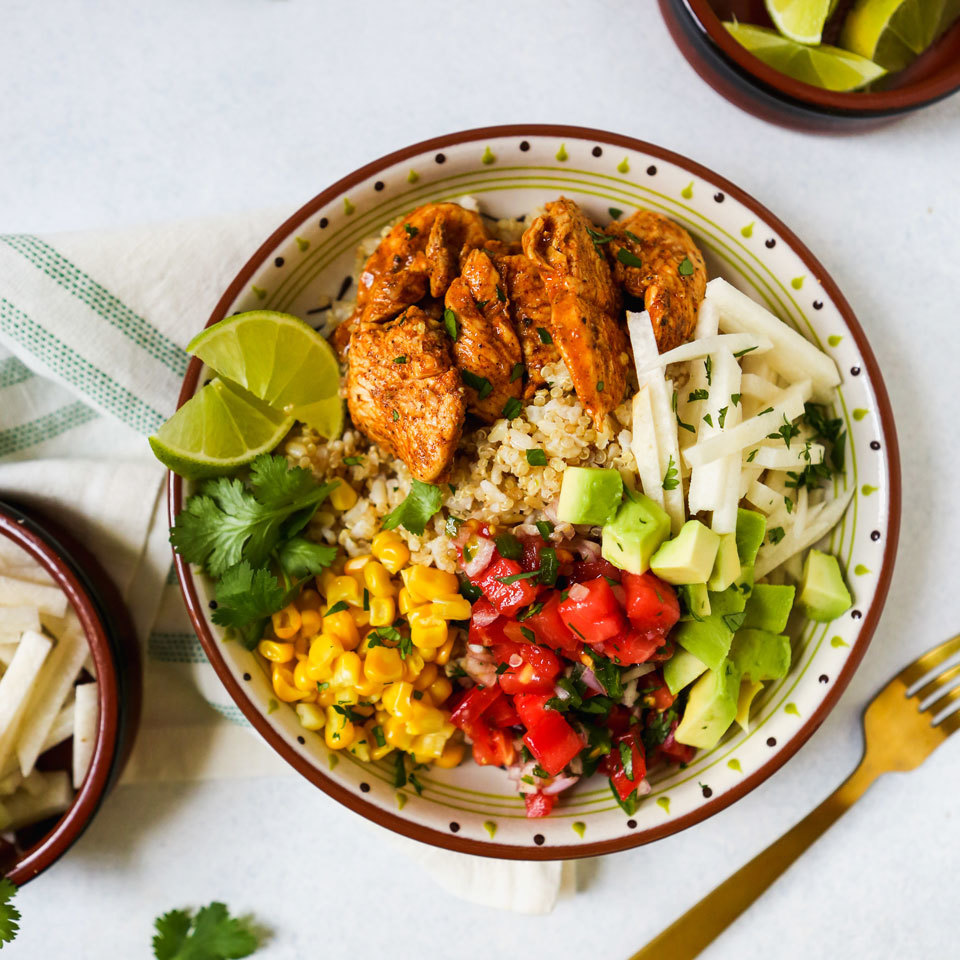 Meal-Prep Chili-Lime Chicken Bowls Lauren Grant