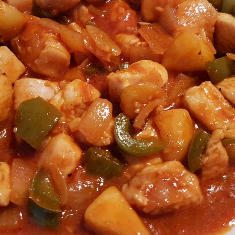 Korean Spicy Chicken Tenders with Sweet Apple Cinte Kimi