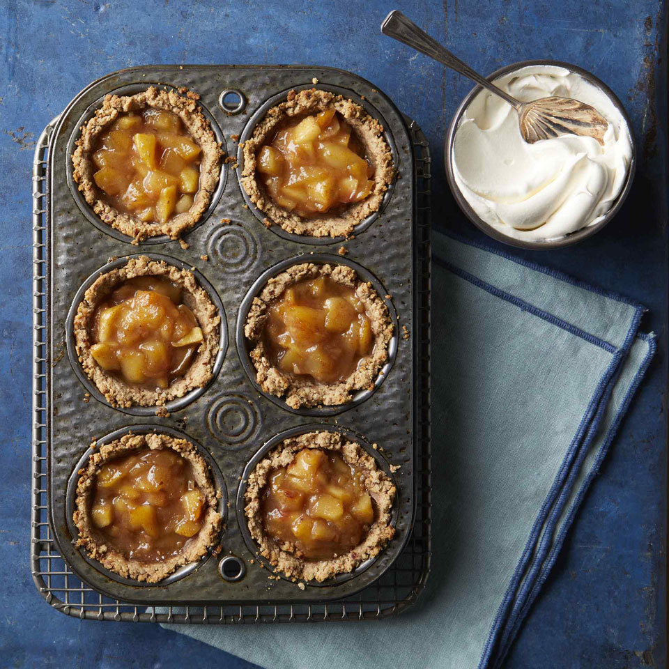 These delectable single-serving tarts are gluten-free and sweetened with dates instead of refined added sugars. Top with a little unsweetened whipped cream to take this special—yet healthy—dessert to the next level.