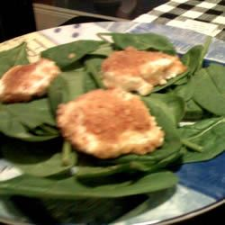 Spinach Salad with Baked Goat Cheese Cookin with Keith & Sara