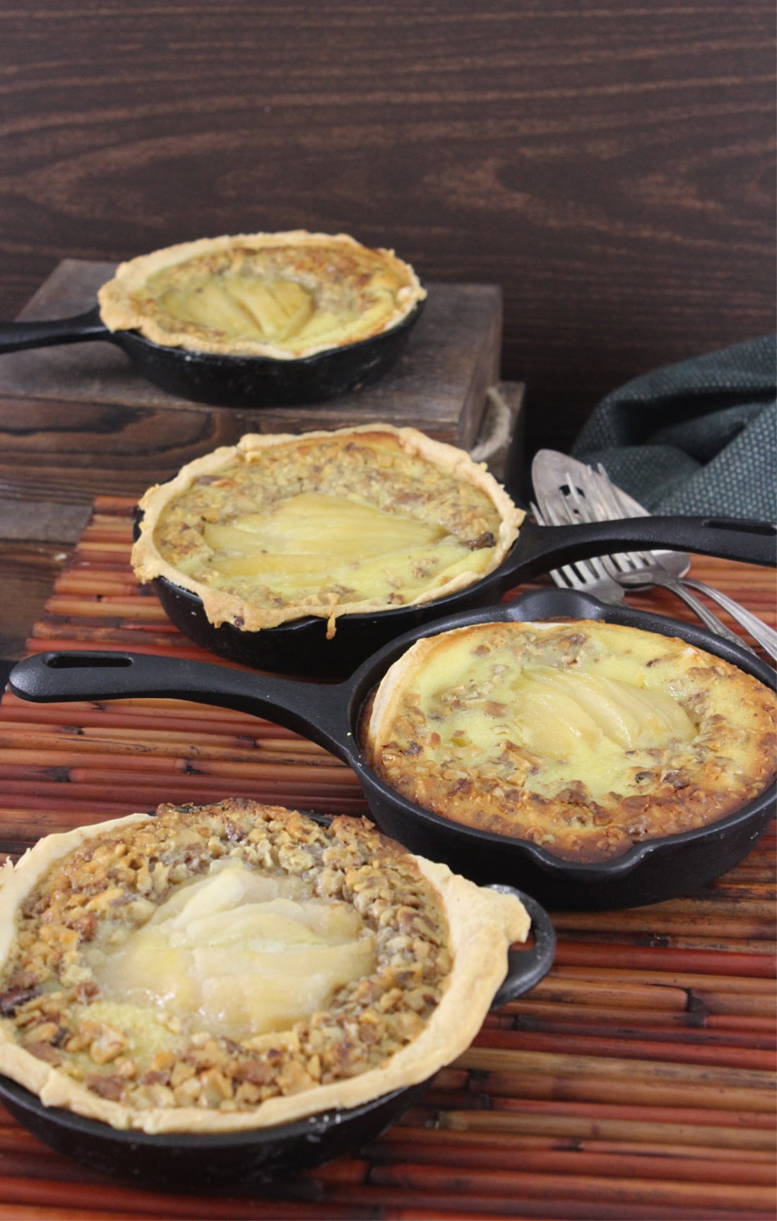Mini Skillet Buttermilk-Pear Pies