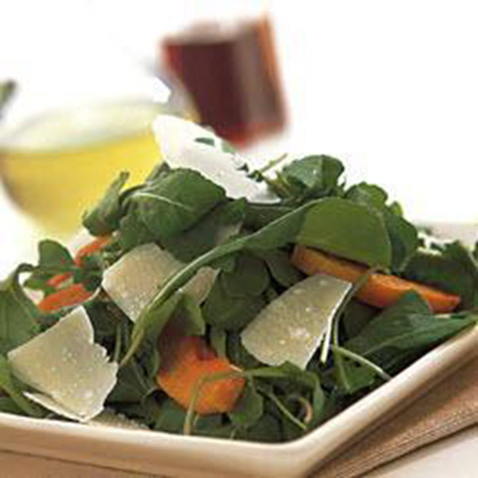 Arugula Salad with Roasted Butternut Squash and Parmesan Cheese
