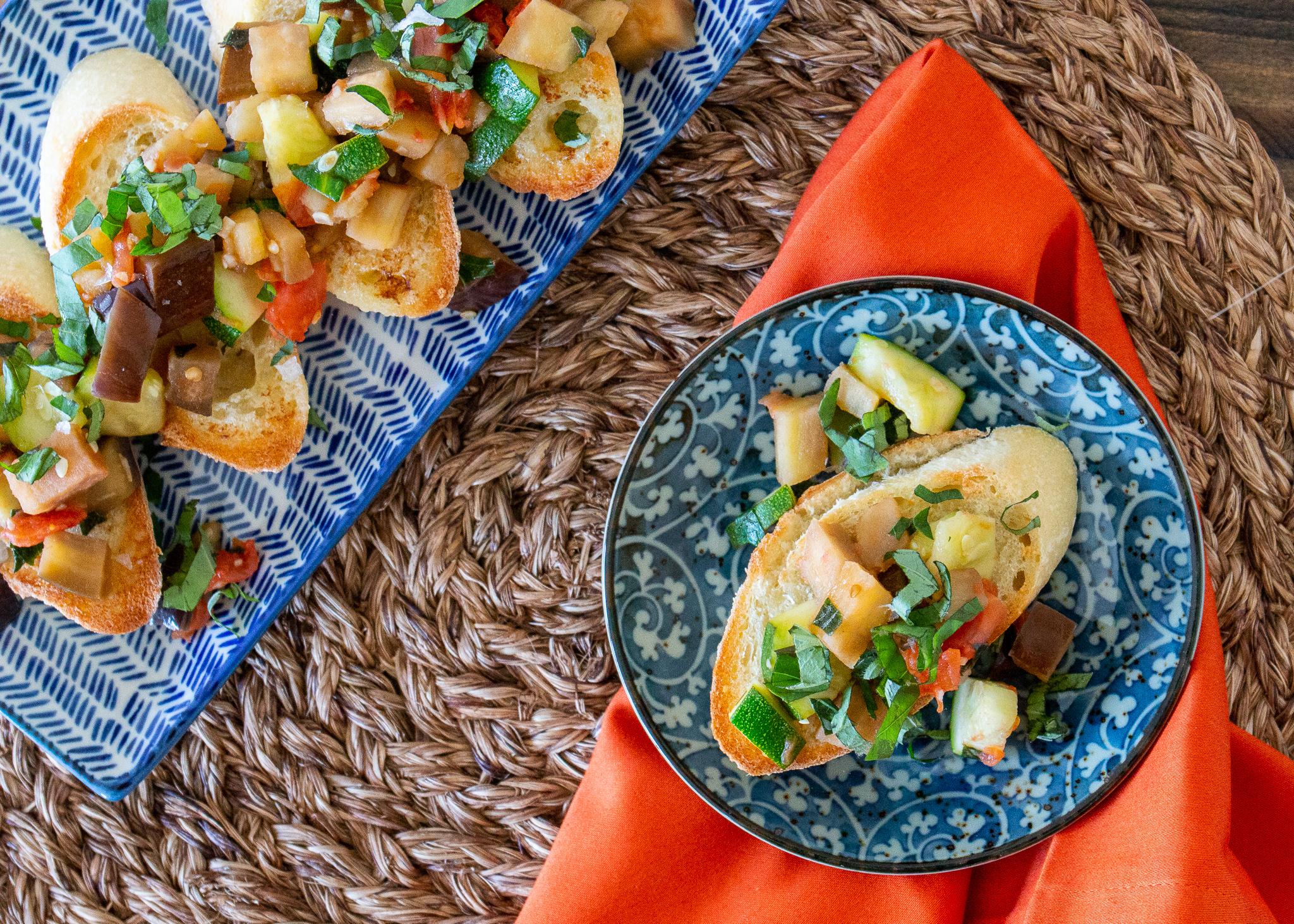 Veggie Delight on Garlic Bread Mackenzie Schieck