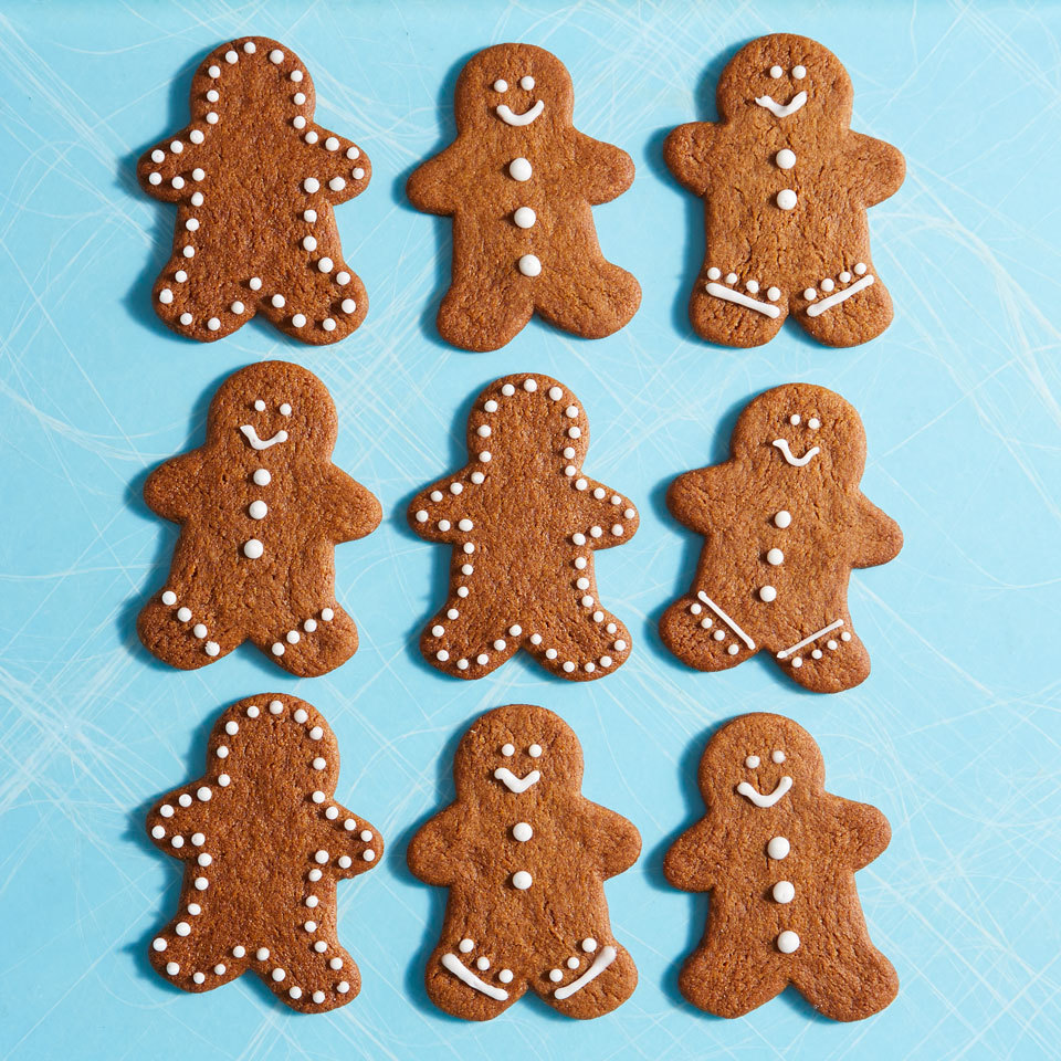Coconut oil stands in for butter in this dairy-free, eggless cookie recipe for completely mouthwatering gingerbread cut-outs. Decorate cookies with a simple vegan icing or sanding sugar.