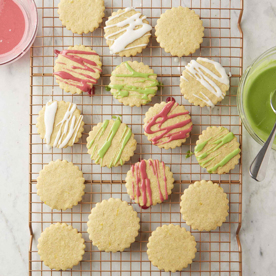 It's hard to imagine a classic buttery sugar cookie without the butter, but trust us, it's possible. Here, we use coconut oil instead of butter for dairy-free eggless cut-out cookies that taste delicious and are fun to make and eat. Decorate with a citrus glaze colored with a little food dye, sprinkles and/or sanding sugar as you wish.