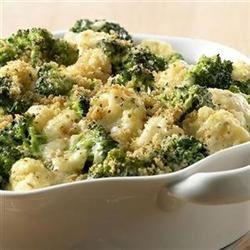 Cheesy Chicken-Broccoli-Cauliflower Casserole