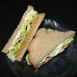 Peanut Butter, Mayonnaise, and Lettuce Sandwich GodivaGirl