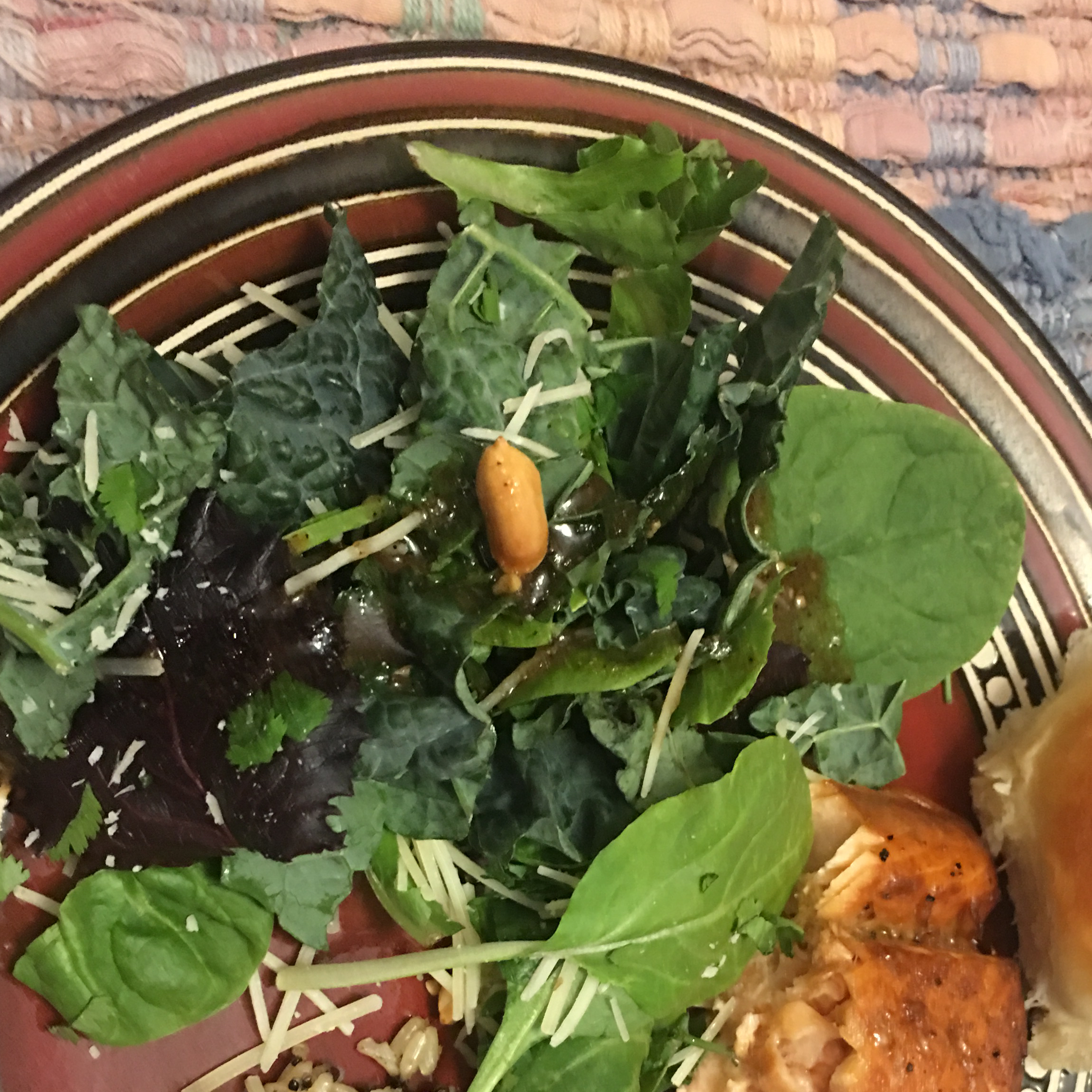 Kale Salad with Peanut Dressing