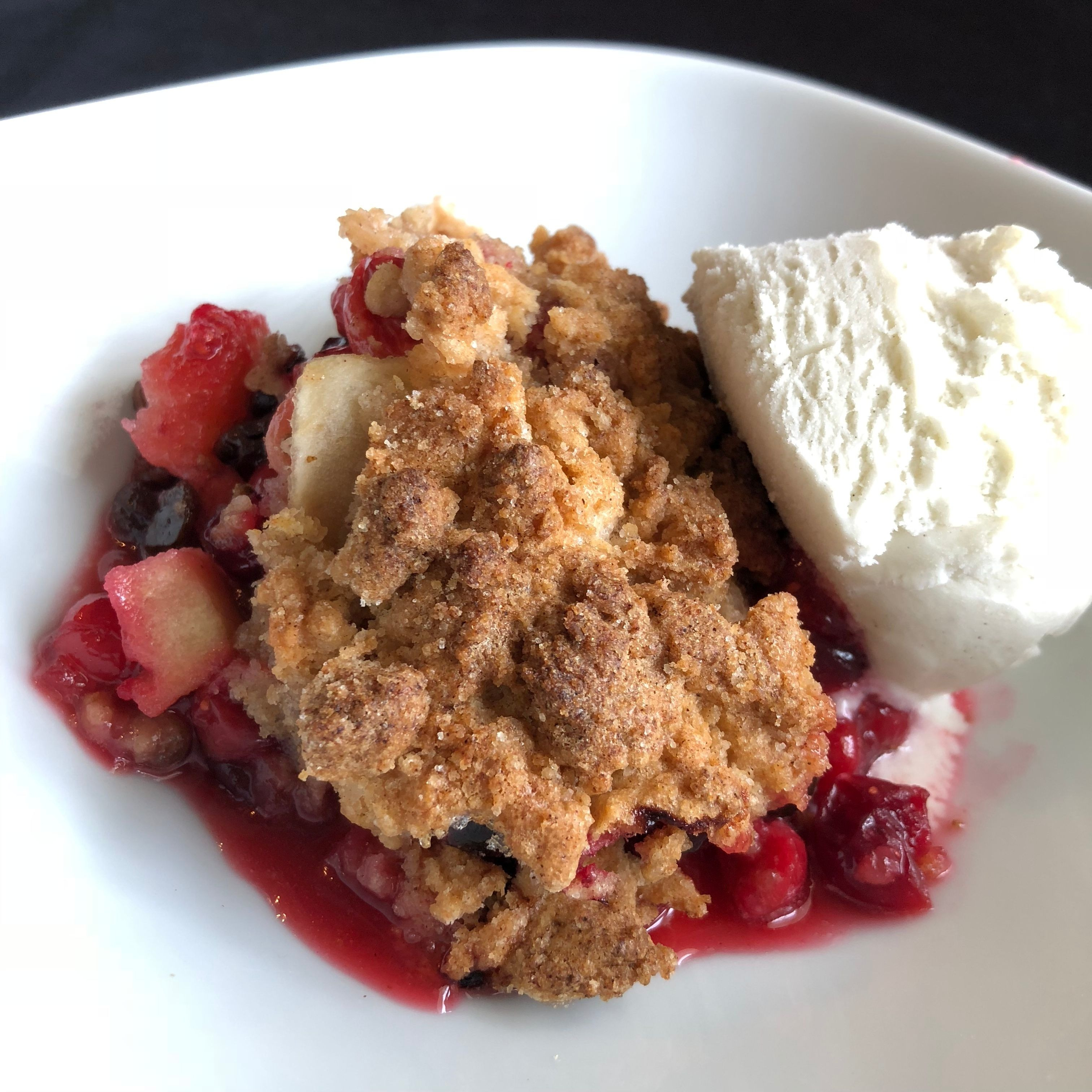 Apple-Cranberry Crumble image