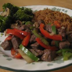Venison Tips and Rice