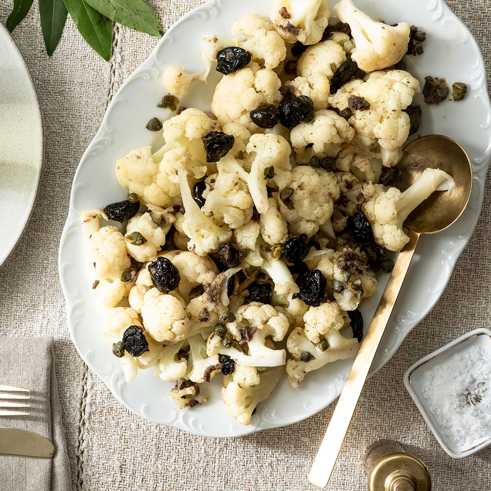 Cauliflower with Anchovies & Oil-Cured Olives Domenica Marchetti