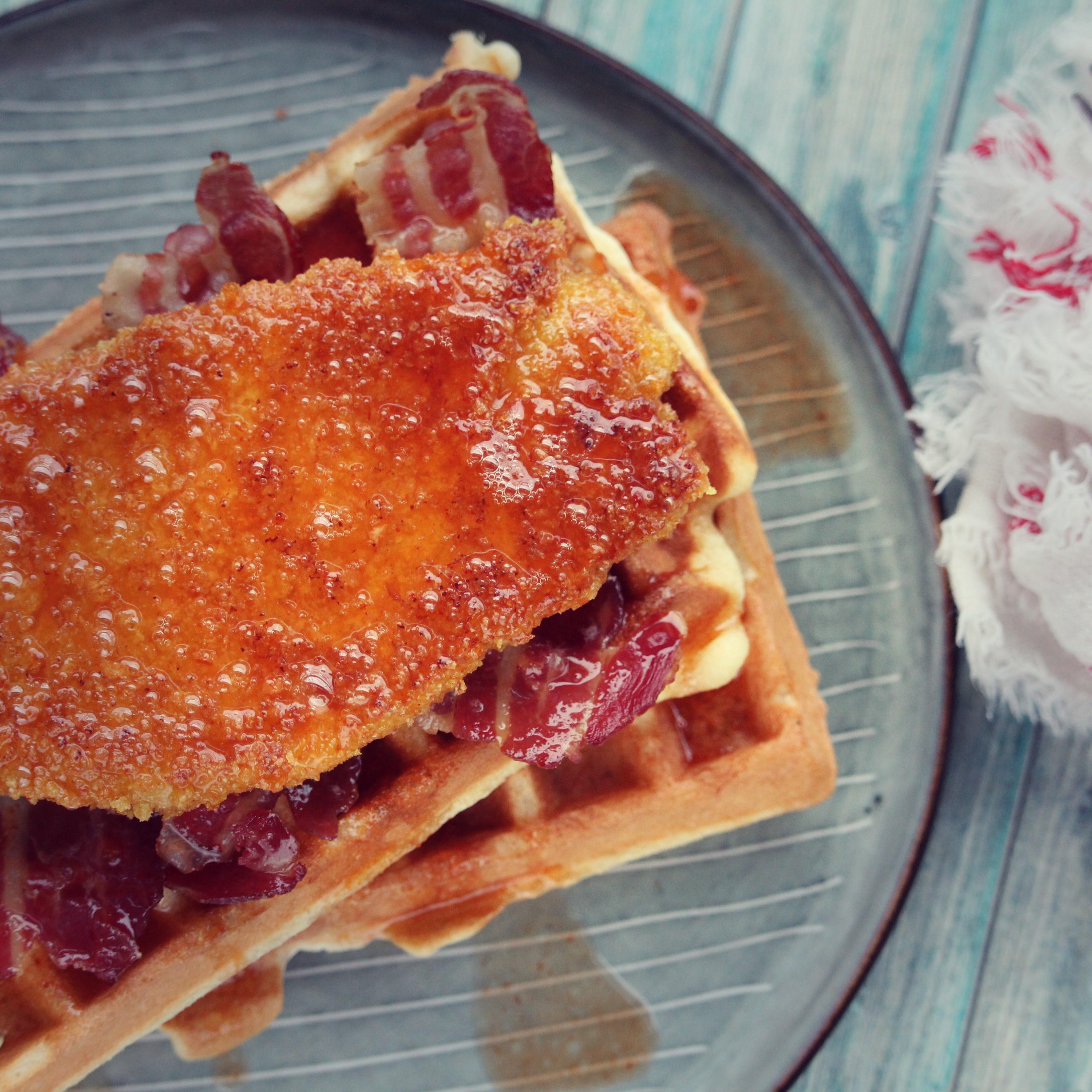 Gluten-Free Chicken and Waffles Buckwheat Queen