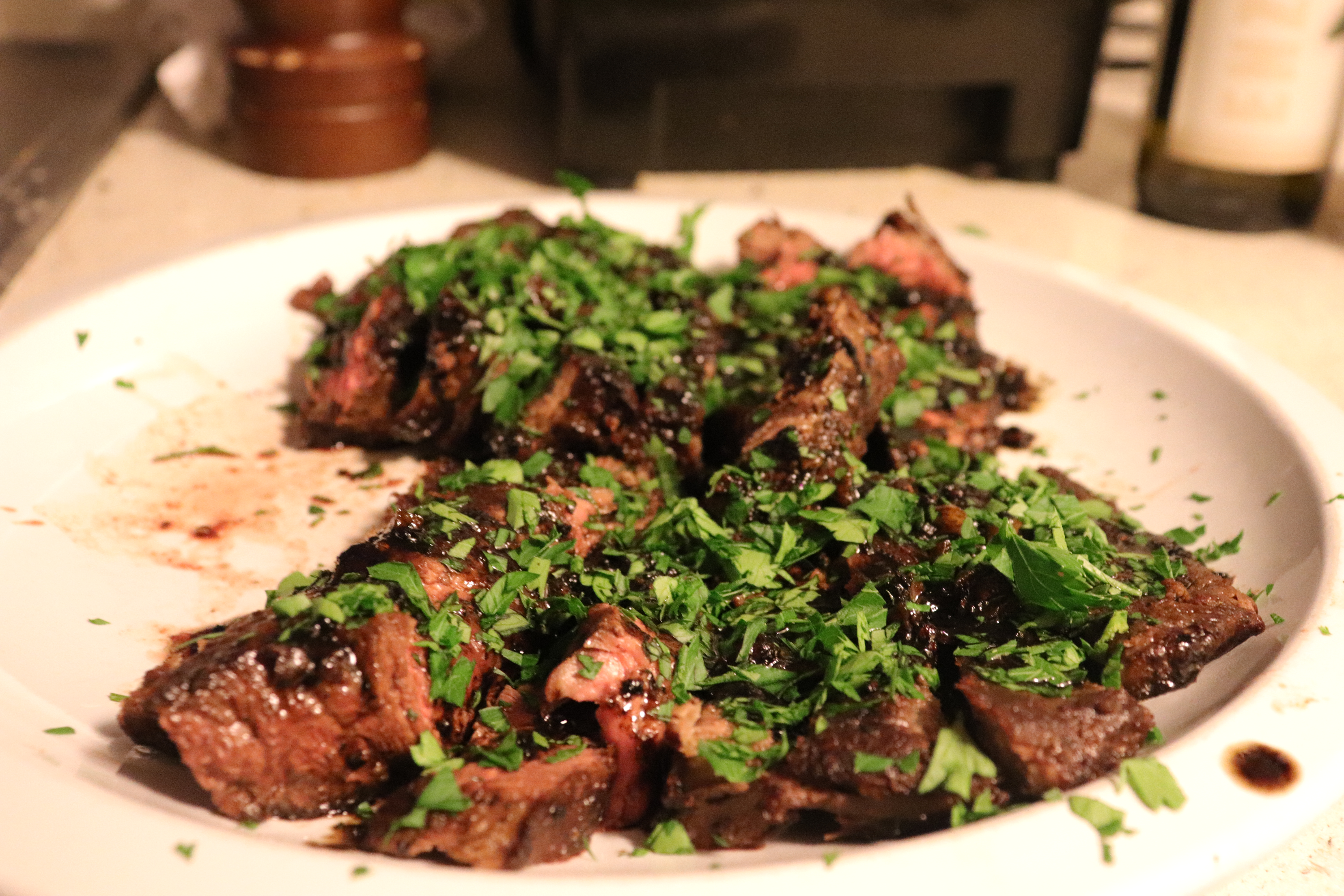 Flat Iron Steak with Balsamic Reduction Cole Harris