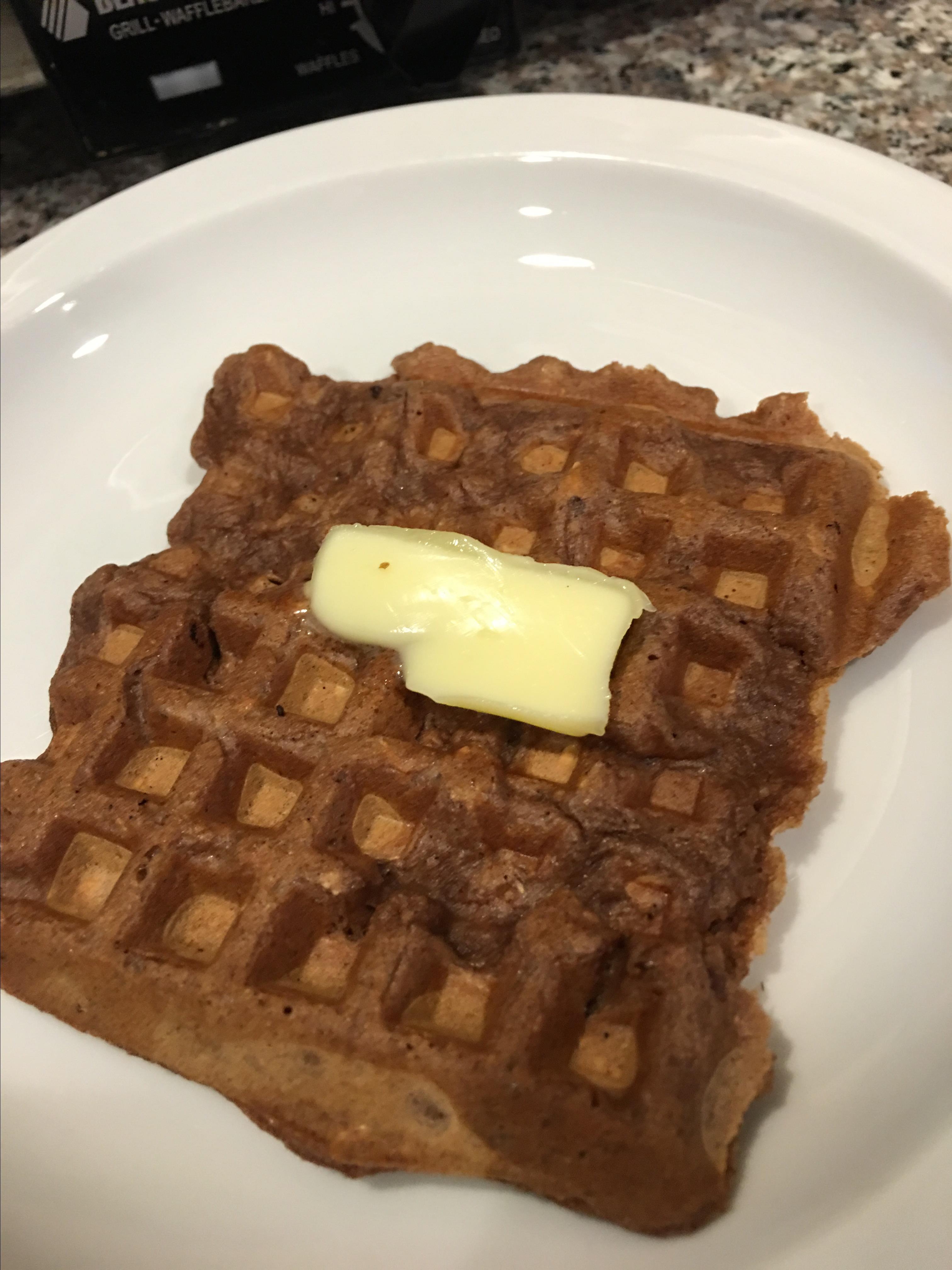 Carlie's Chocolate Oatmeal Waffles Stephanie