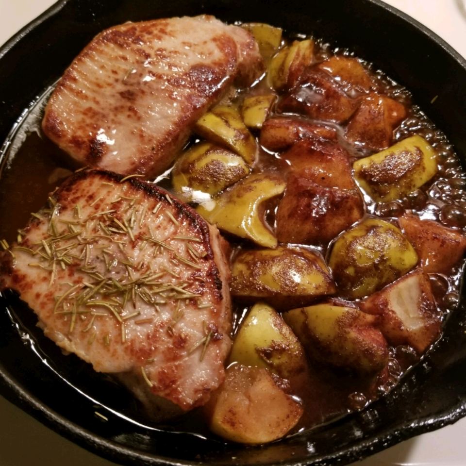 Boneless Pork Chops and Apples Mary Anderson