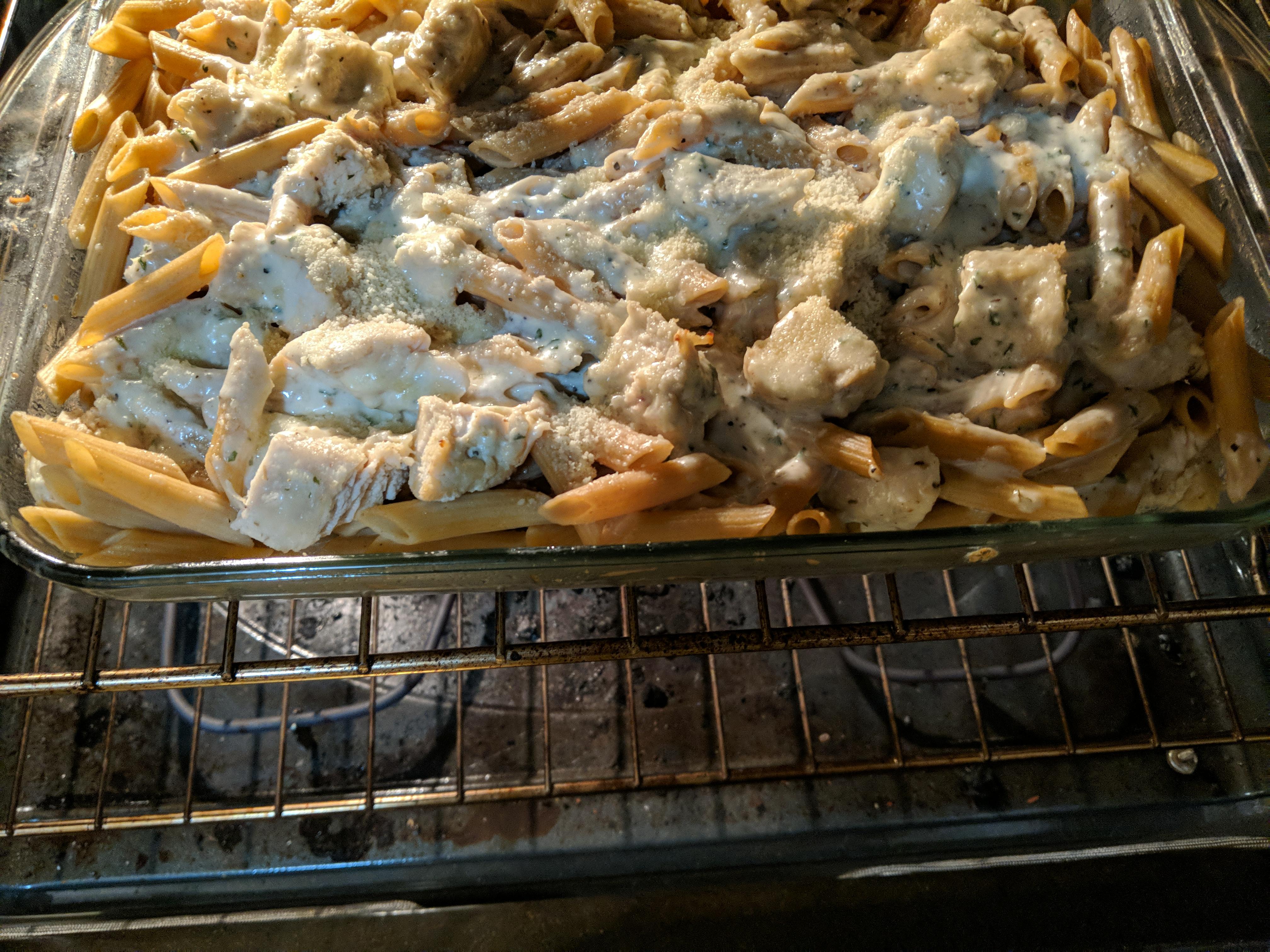 Baked Chicken Alfredo