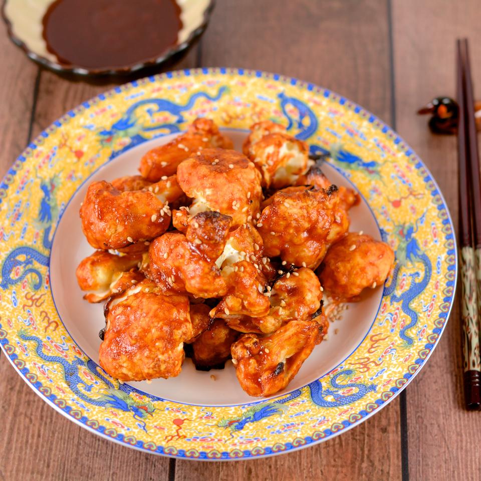 Korean Baked Cauliflower 'Wings'