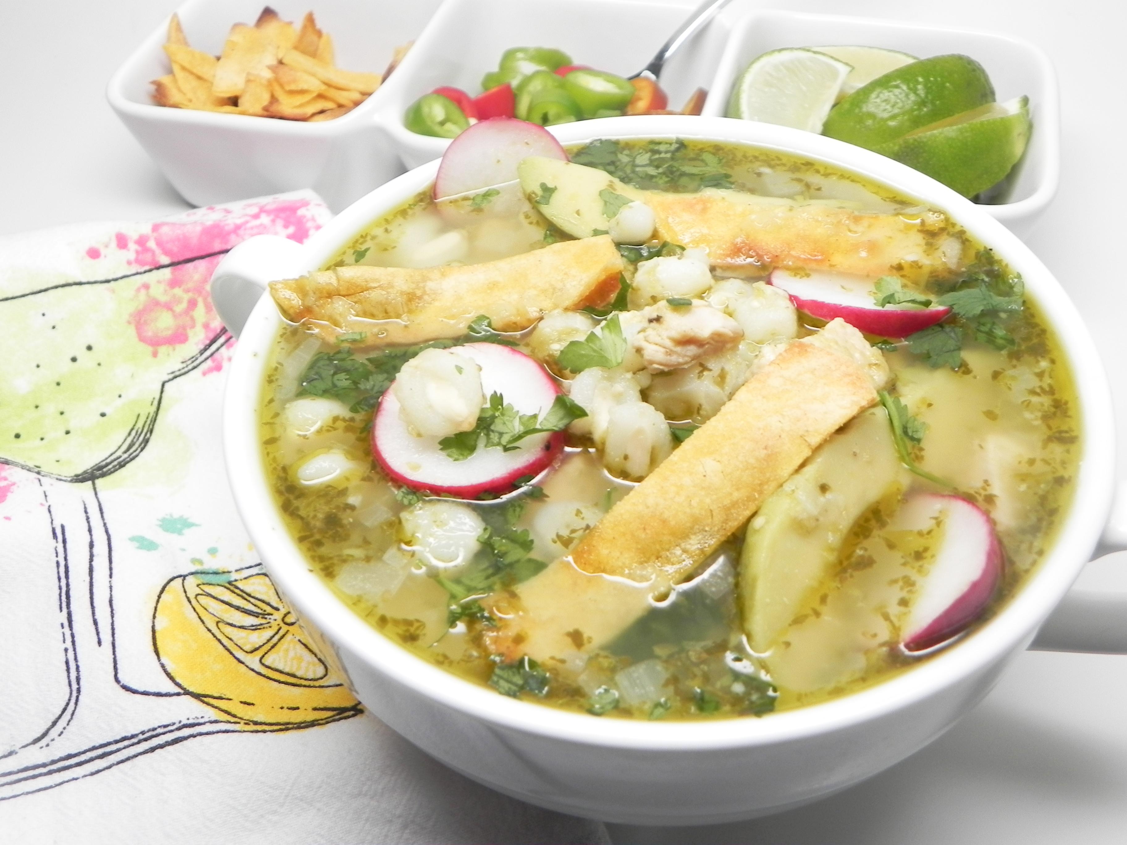 Instant Pot(R) Chicken Posole Verde Soup Loving Nicole