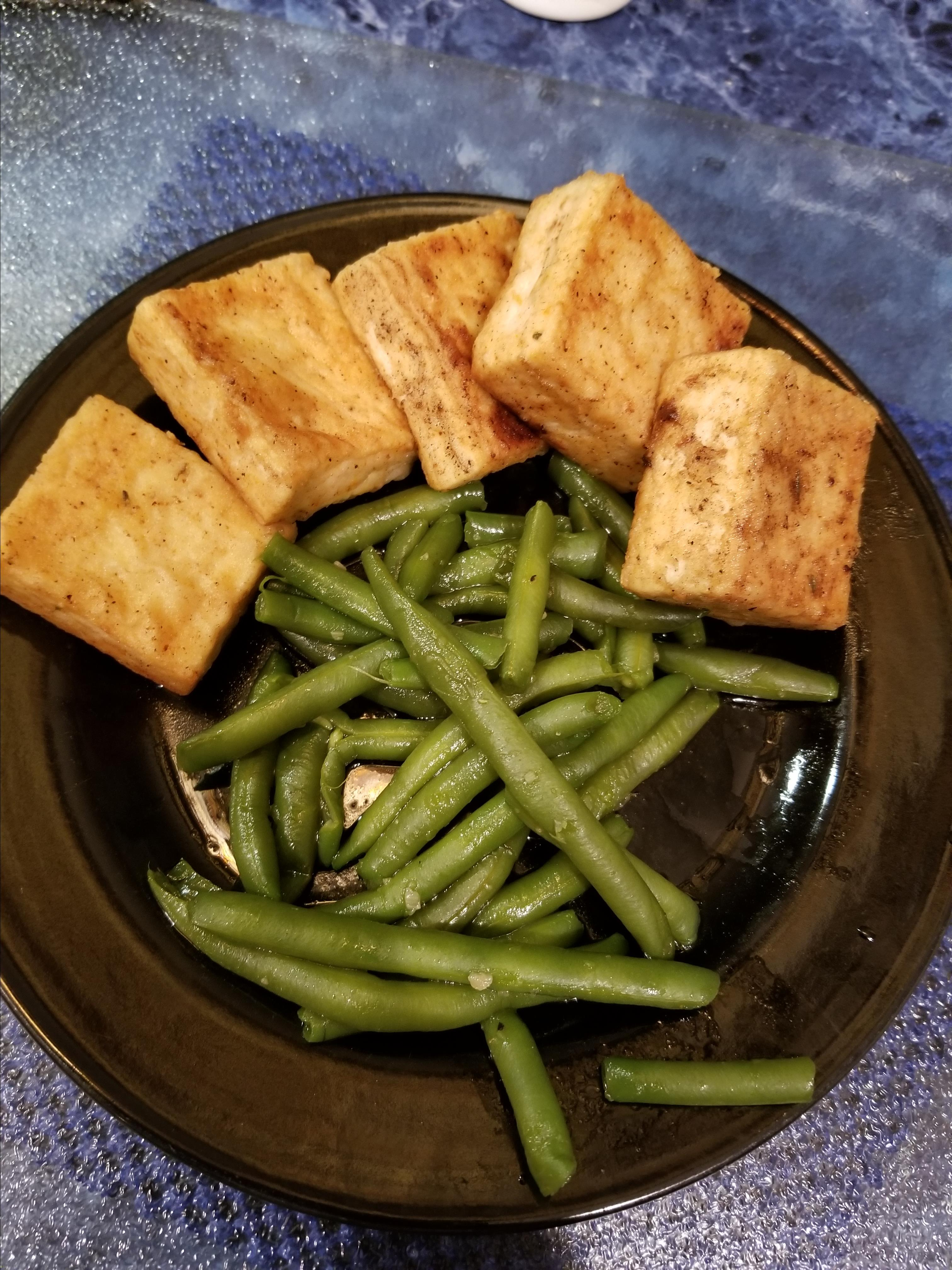 Breaded, Fried, Softly Spiced Tofu bellpepper