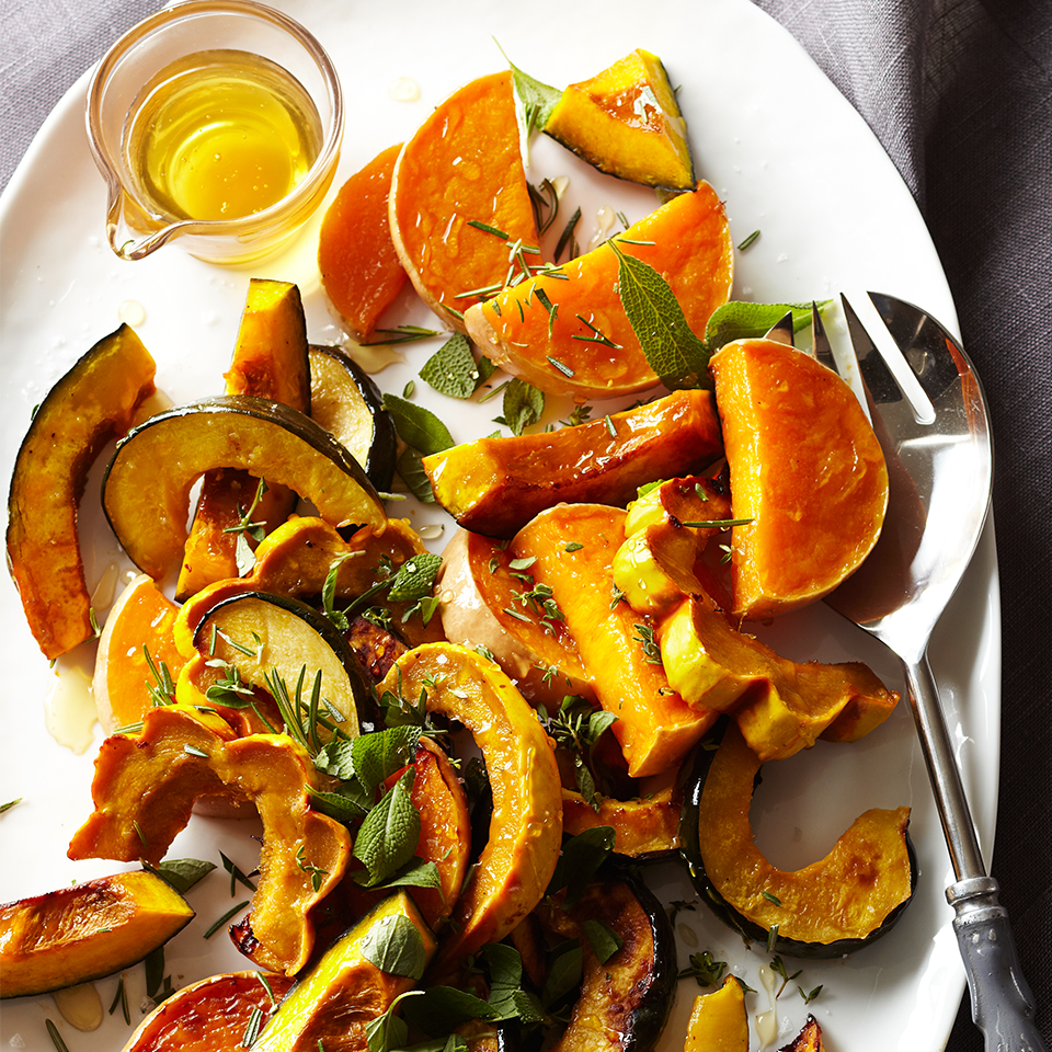 Local honey not only supports your neighborhood bee farmers, but it's unprocessed and pure, unlike the filtered honey that's available in your grocery store. Just a couple tablespoons of honey is all that's needed to sweeten this yummy roasted squash recipe. The sweet taste contrasts nicely with the sea salt to make each bite melt in your mouth.