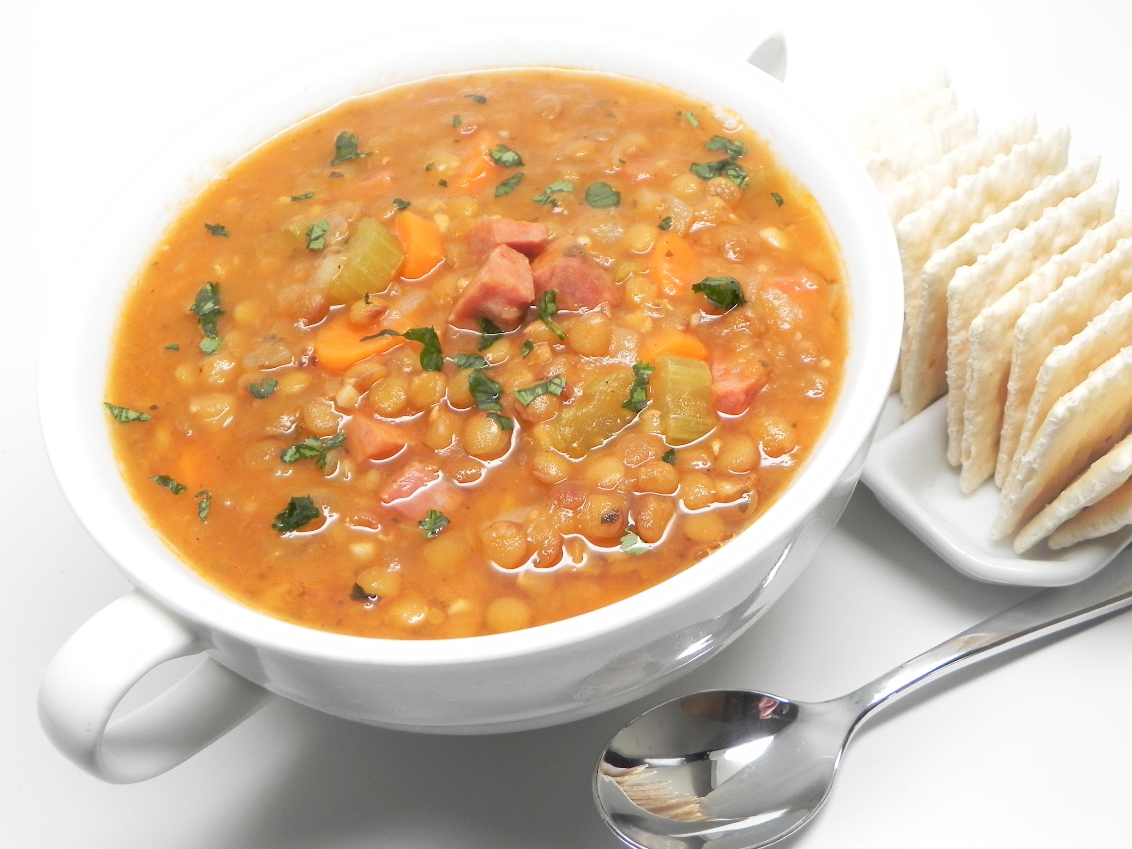 Instant Pot(R) Lentil and Ham Soup