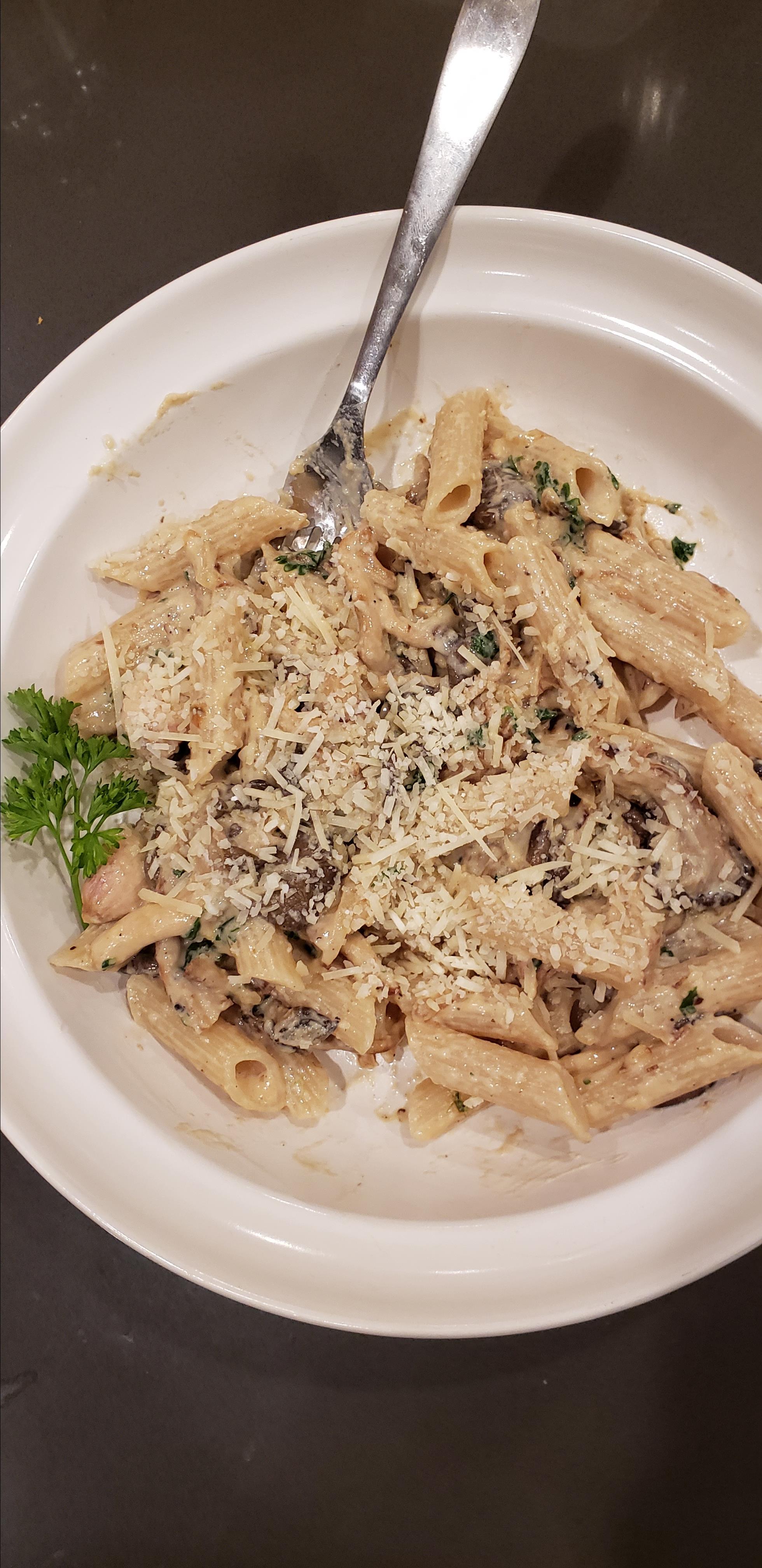 Oyster Mushroom Pasta T.J.