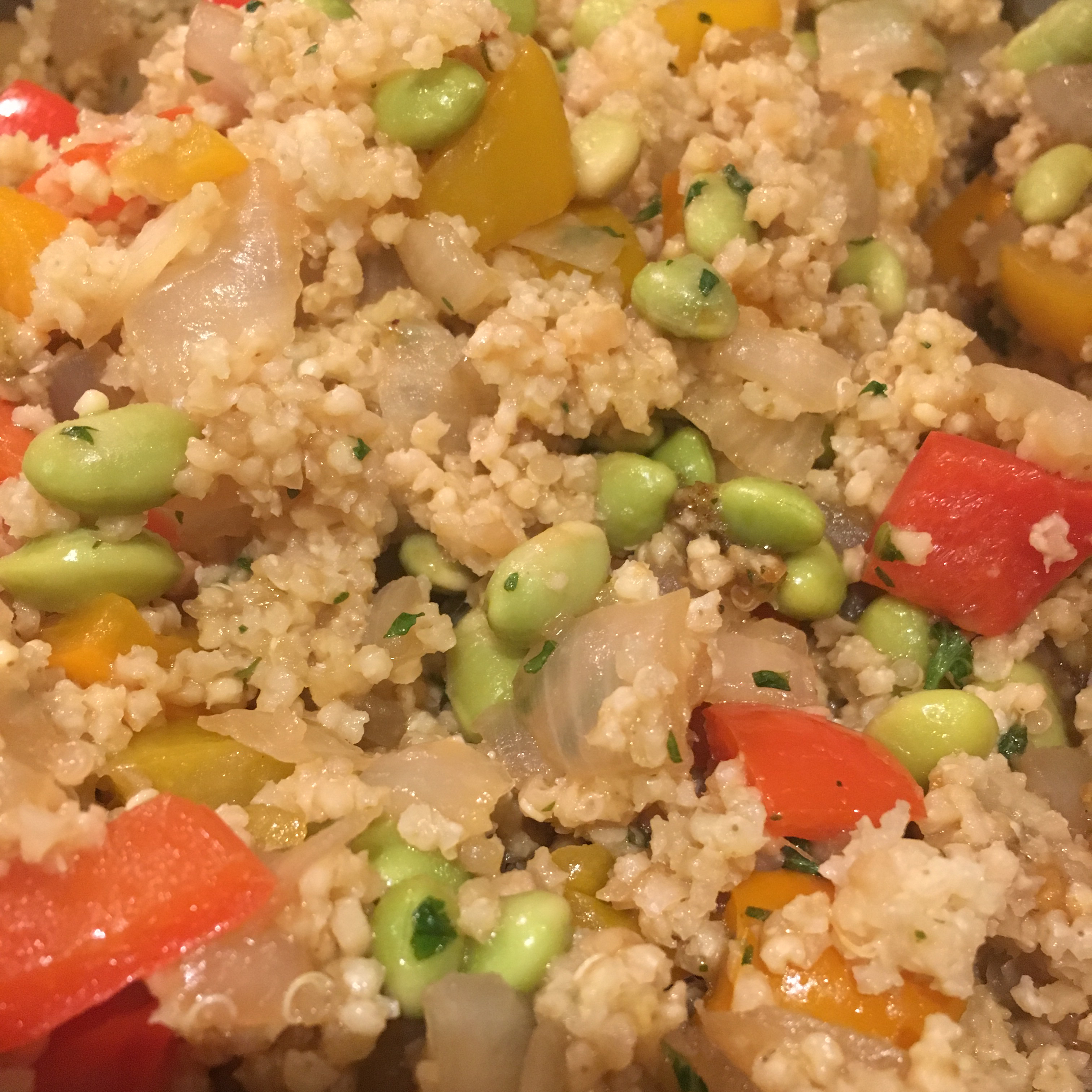 Protein-Packed Spicy Vegan Quinoa with Edamame