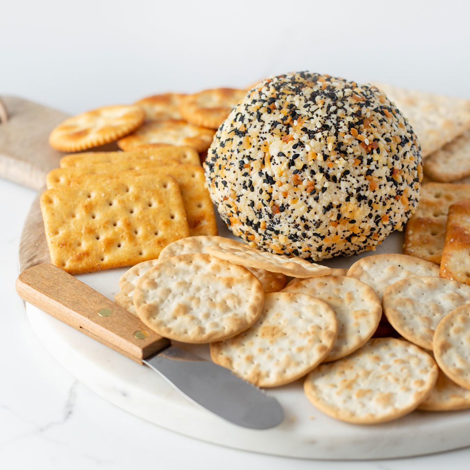 This is not your grandma's cheese ball. It has all the flavor of an everything bagel without all the carbs and with just 3 ingredients! Want to emphasize the bagel taste? Serve it with bagel chips and some raw veggies for dipping to keep things healthy.