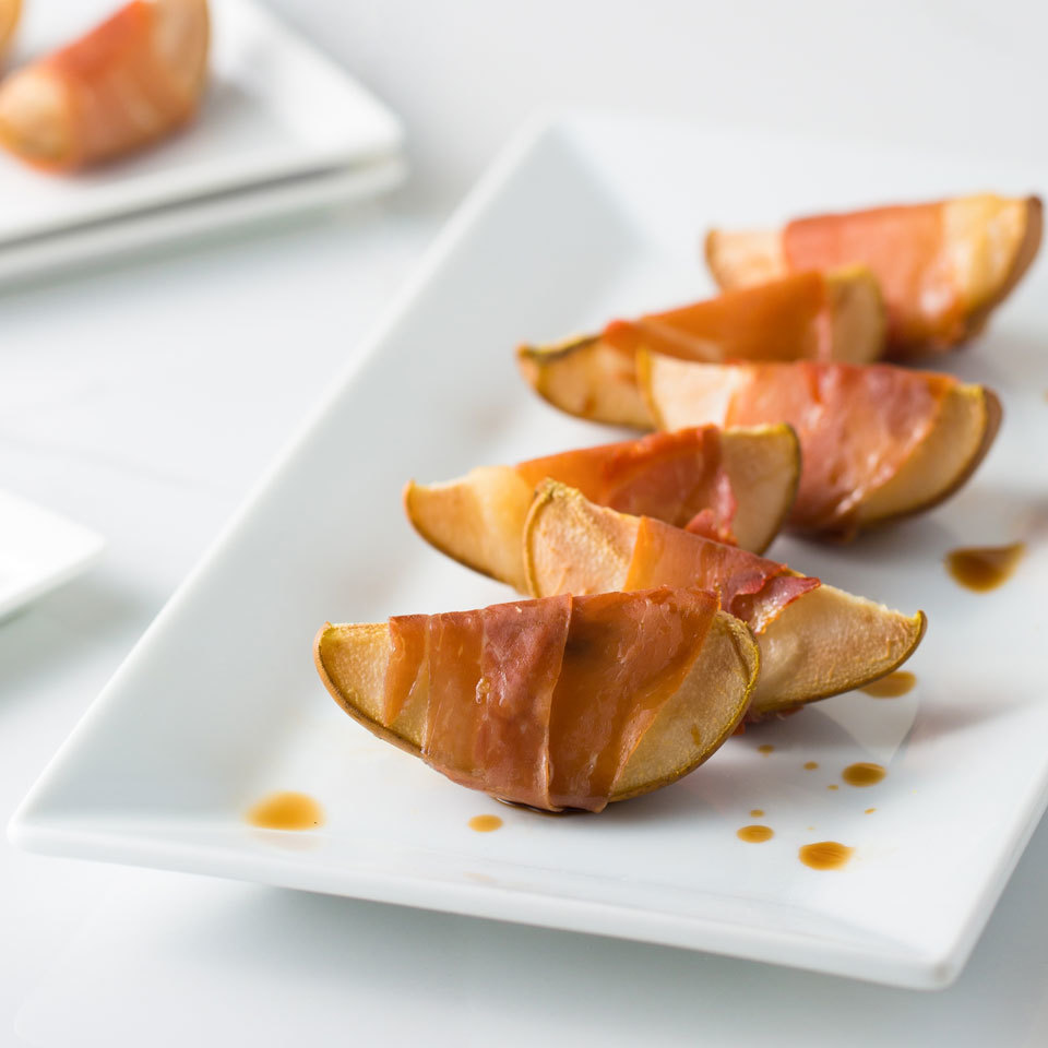 This 3-ingredient finger food is the perfect classy appetizer for your next party. It's so simple to make yet so elegant and delicious. Finishing with a drizzle of balsamic vinegar makes the flavors pop and takes this easy app to the next level.