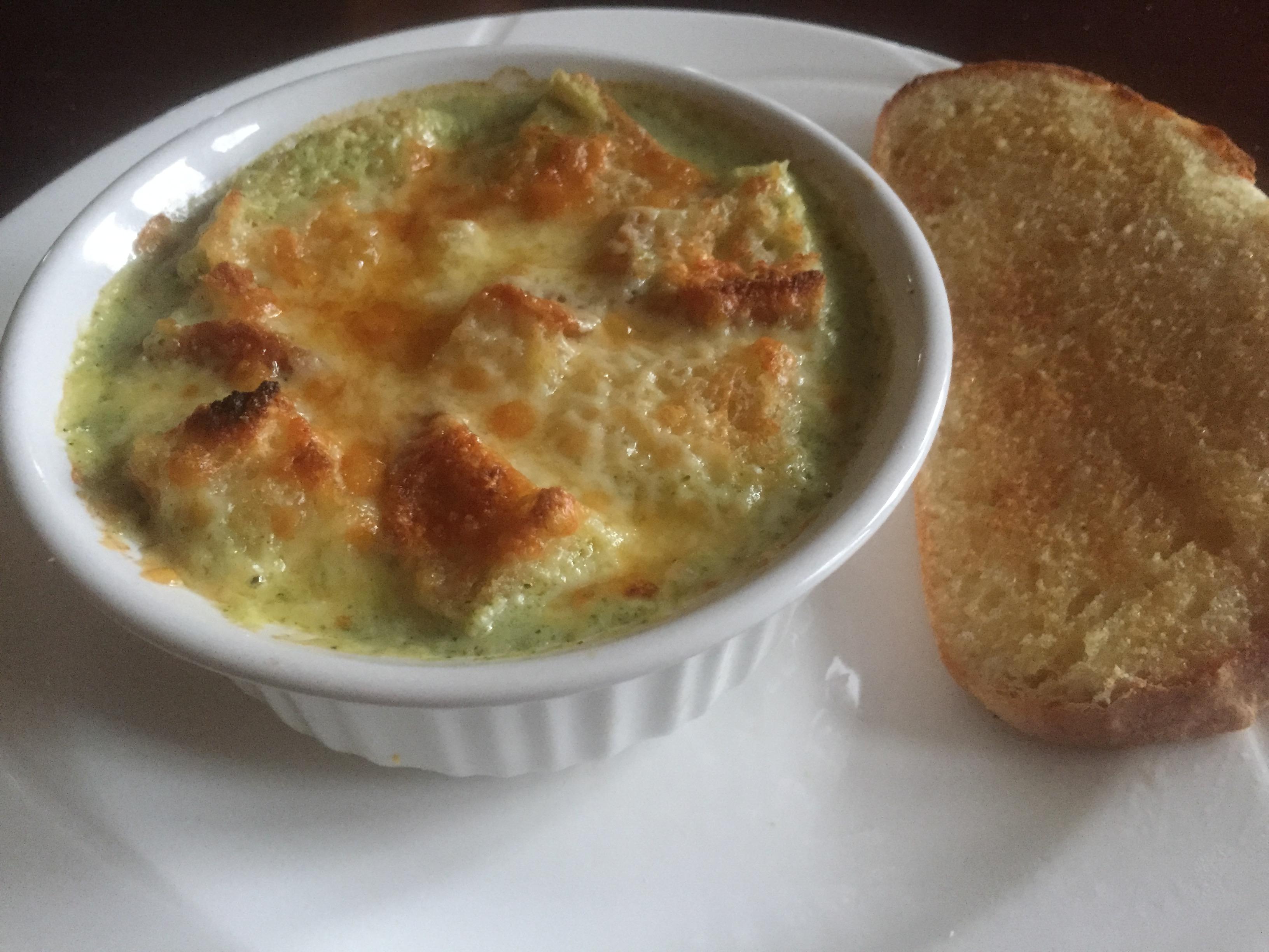 Broccoli Soup au Gratin