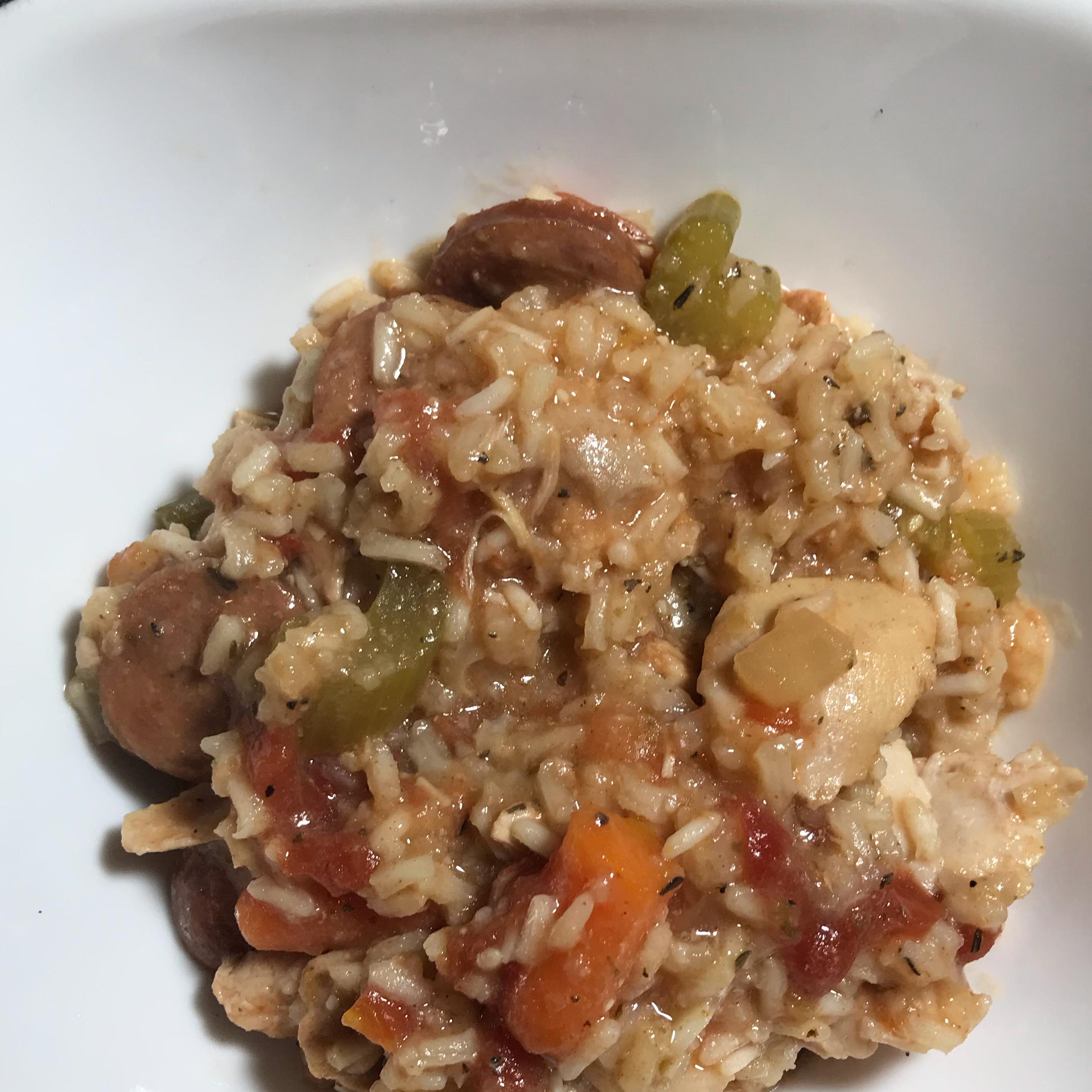 Simple Slow Cooker Jambalaya