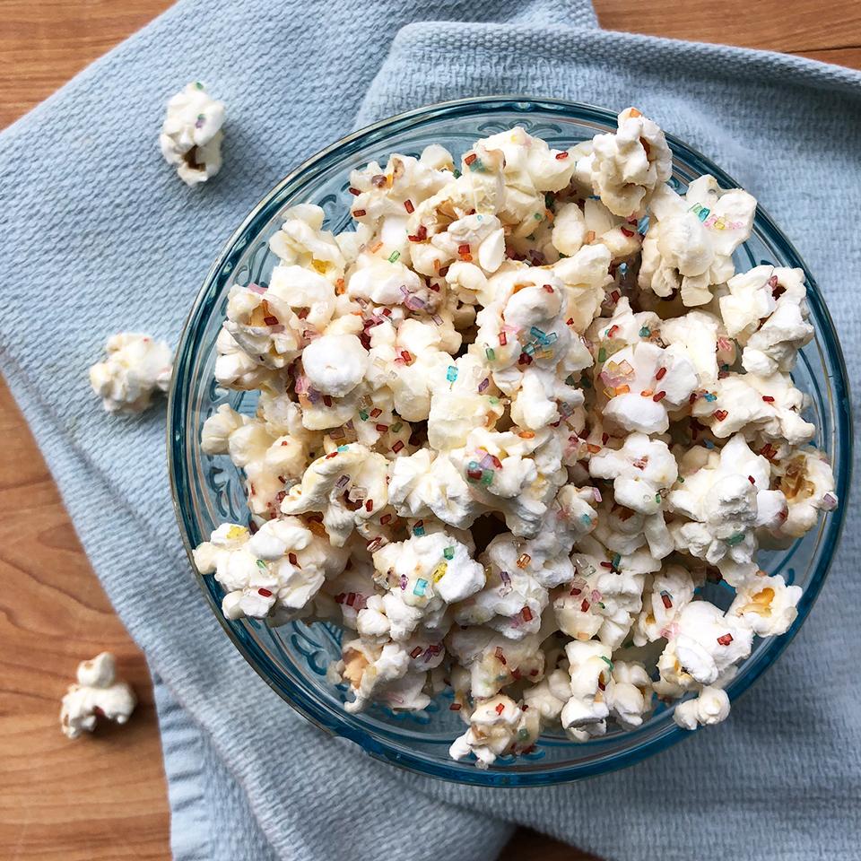 Confetti Birthday Cake Popcorn Victoria Seaver, M.S., R.D.