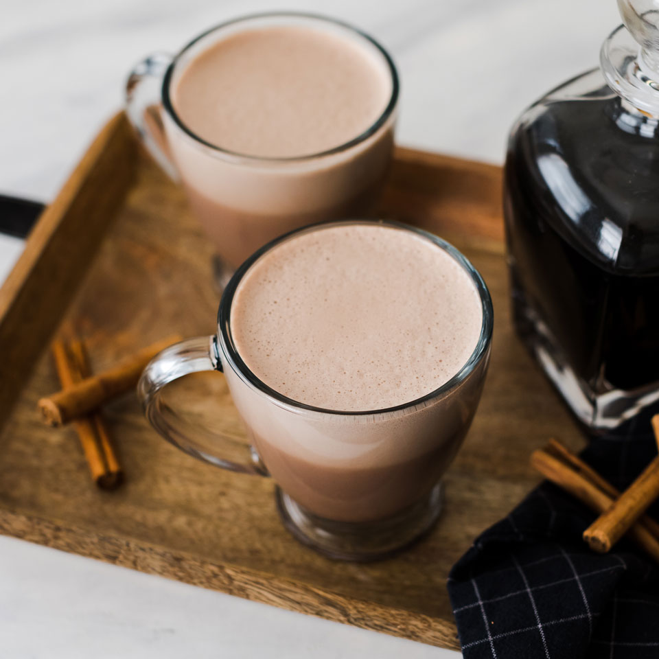 While regular hot cocoa is lovely and warming, sometimes something a bit more spirited is in order. Some other tasty additions to hot chocolate: bourbon, creme de menthe, Galliano, creme de cassis, Chambord.