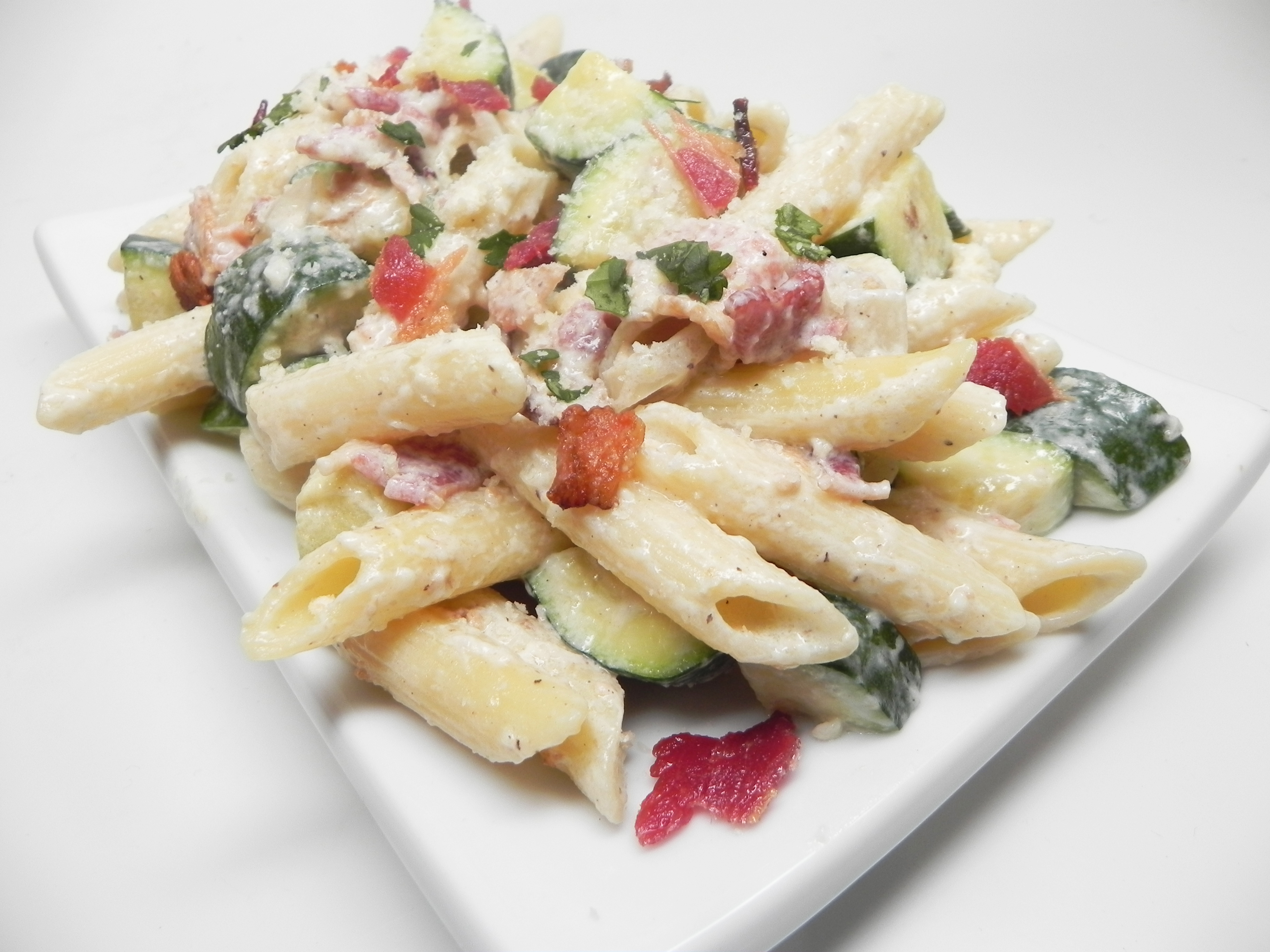 Penne with Bacon and Zucchini