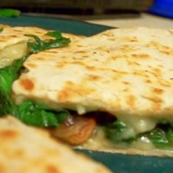 Spinach and Mushroom Quesadillas lobsteriffic